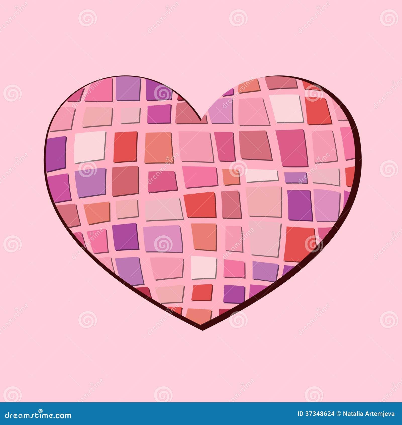 Abstrakt hjärta