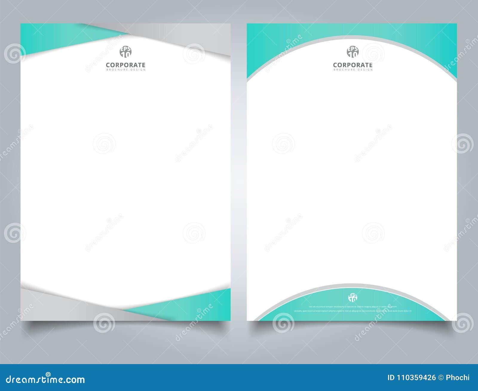 Abstrakt idérikt ljus för brevhuvuddesignmall - blå färgge