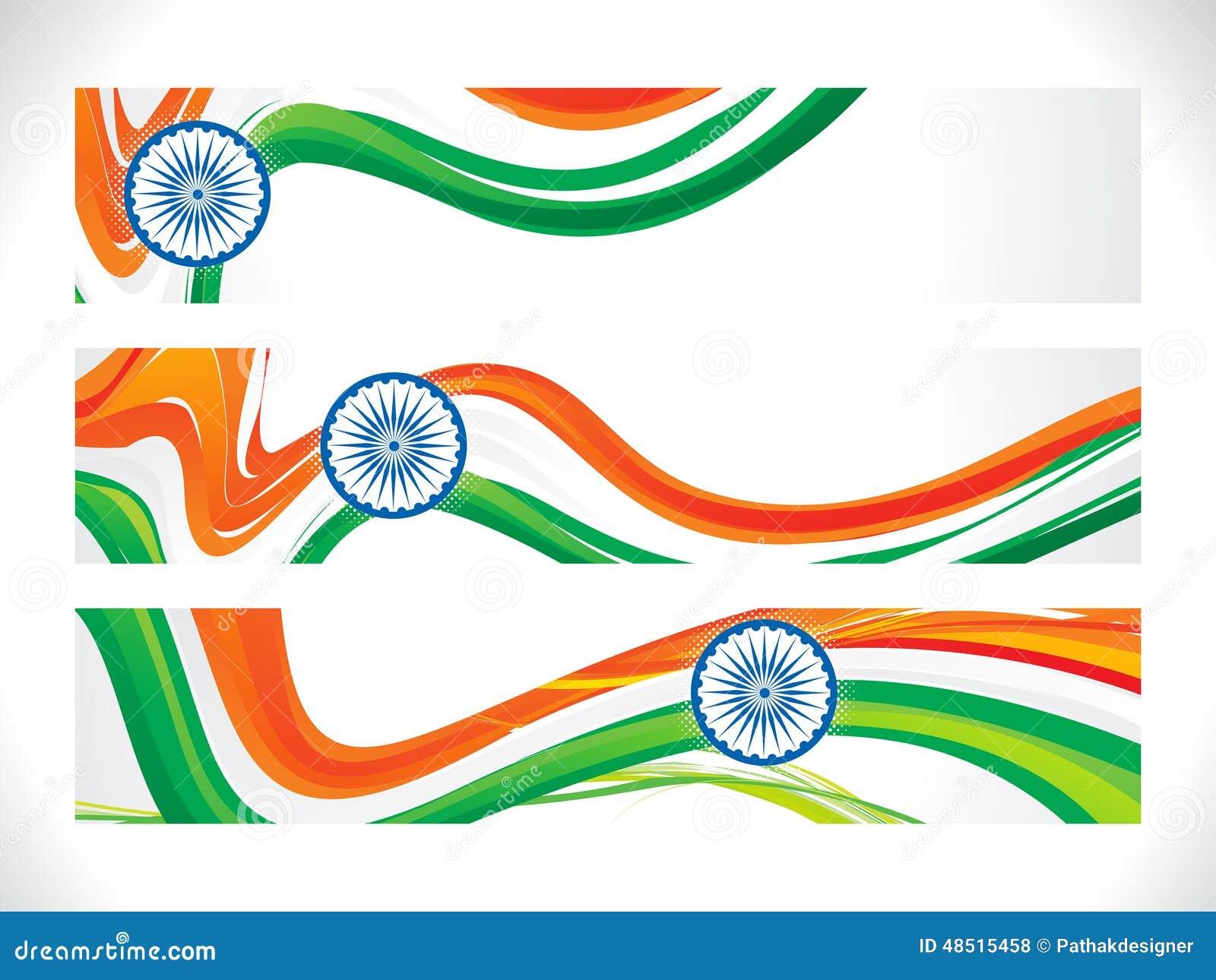 Abstrakt indiskt flaggabaner