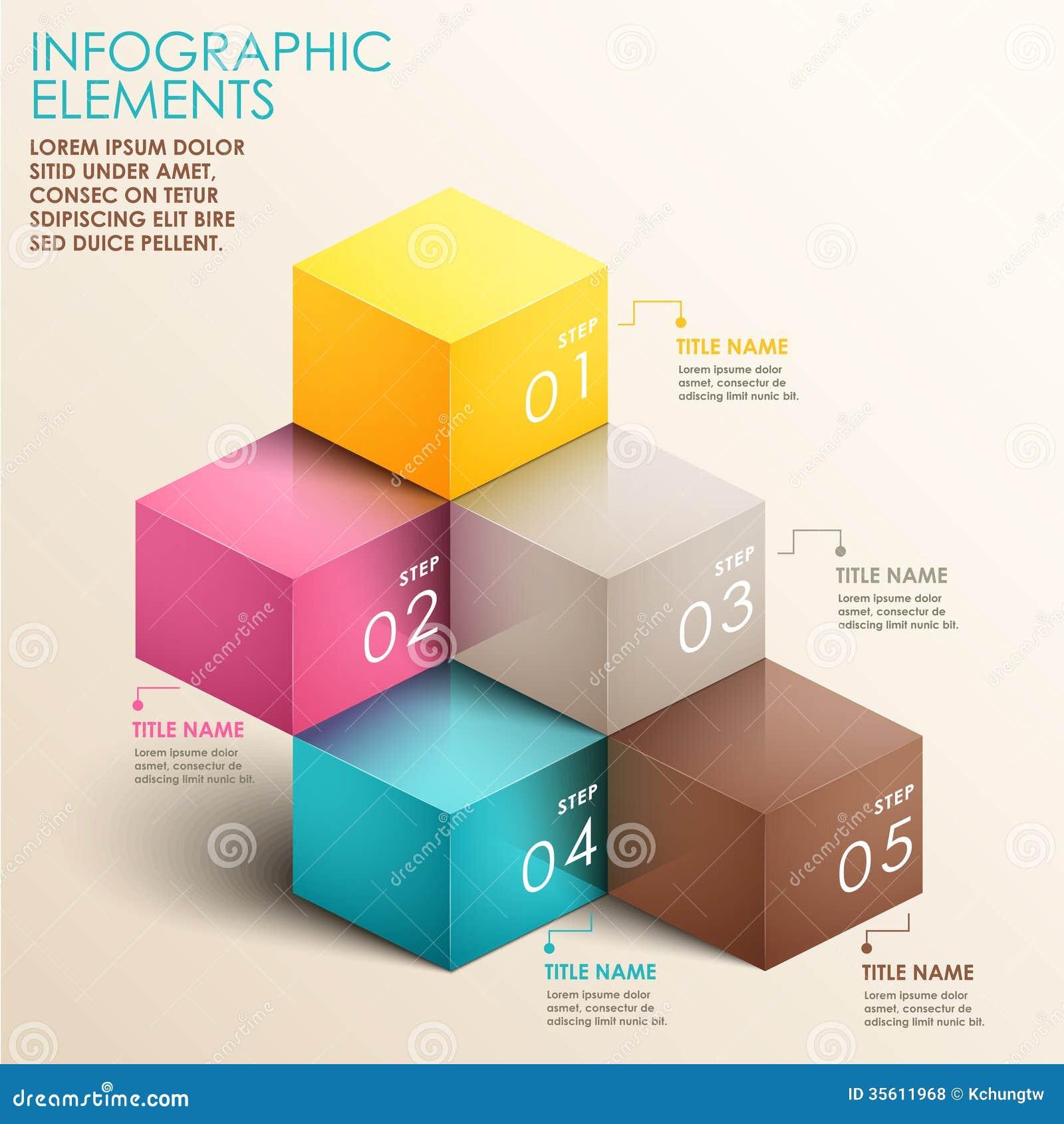 Abstrakt infographics för trappuppgång 3d