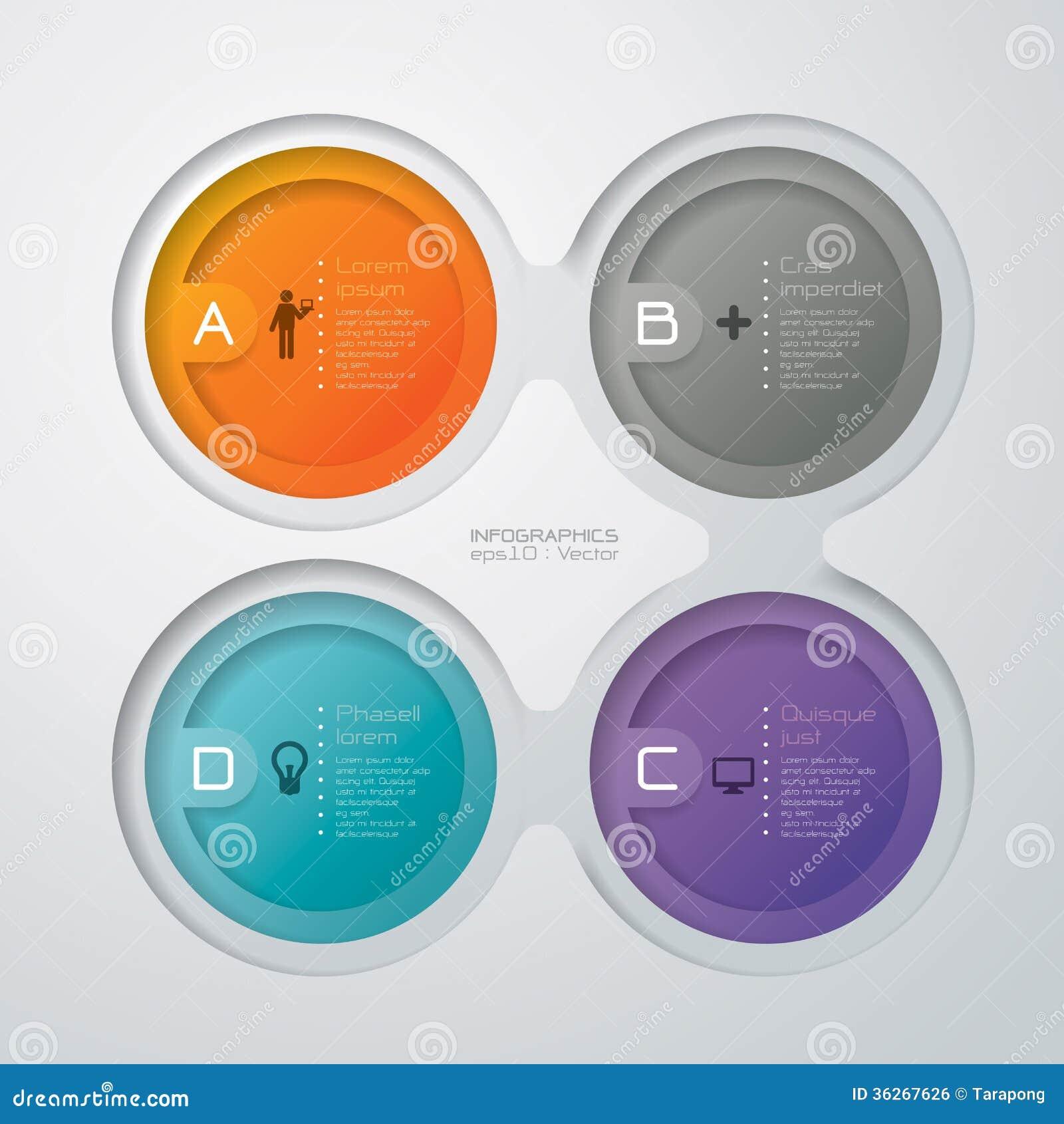 Abstrakt infographicsmalldesign