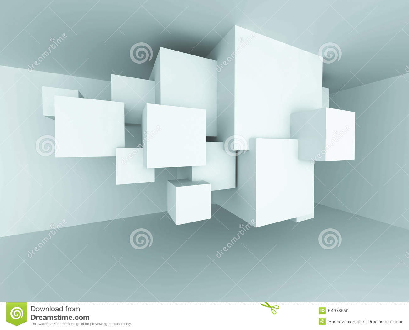 Abstrakt inre Backgroun för rum för design för arkitekturkubkvarter