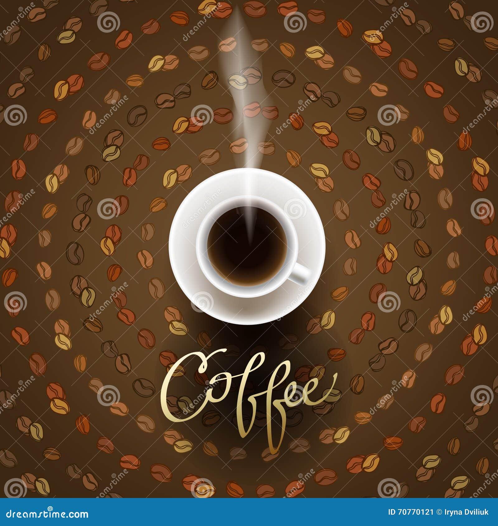 Abstrakt kaffedesign