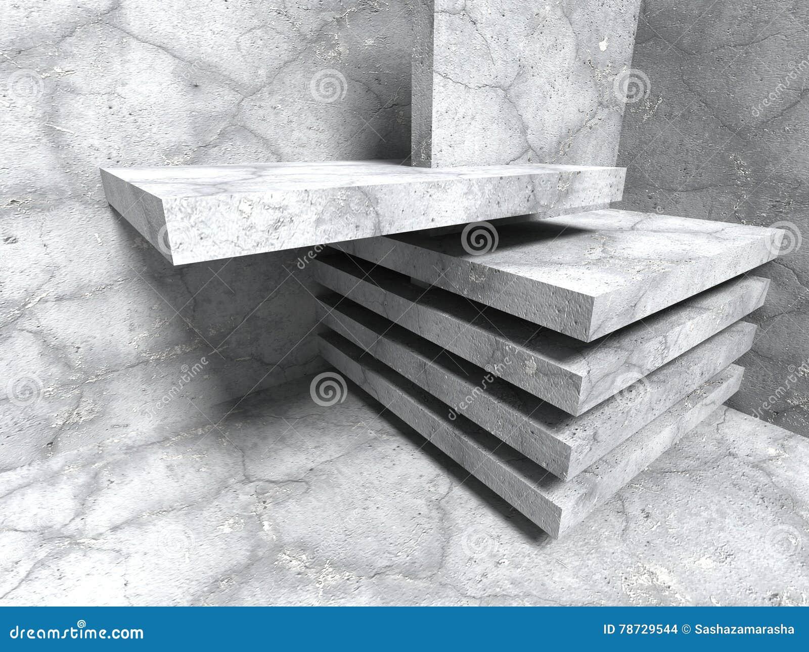 Abstrakt konkret arkitektur Sprucken stenväggbakgrund