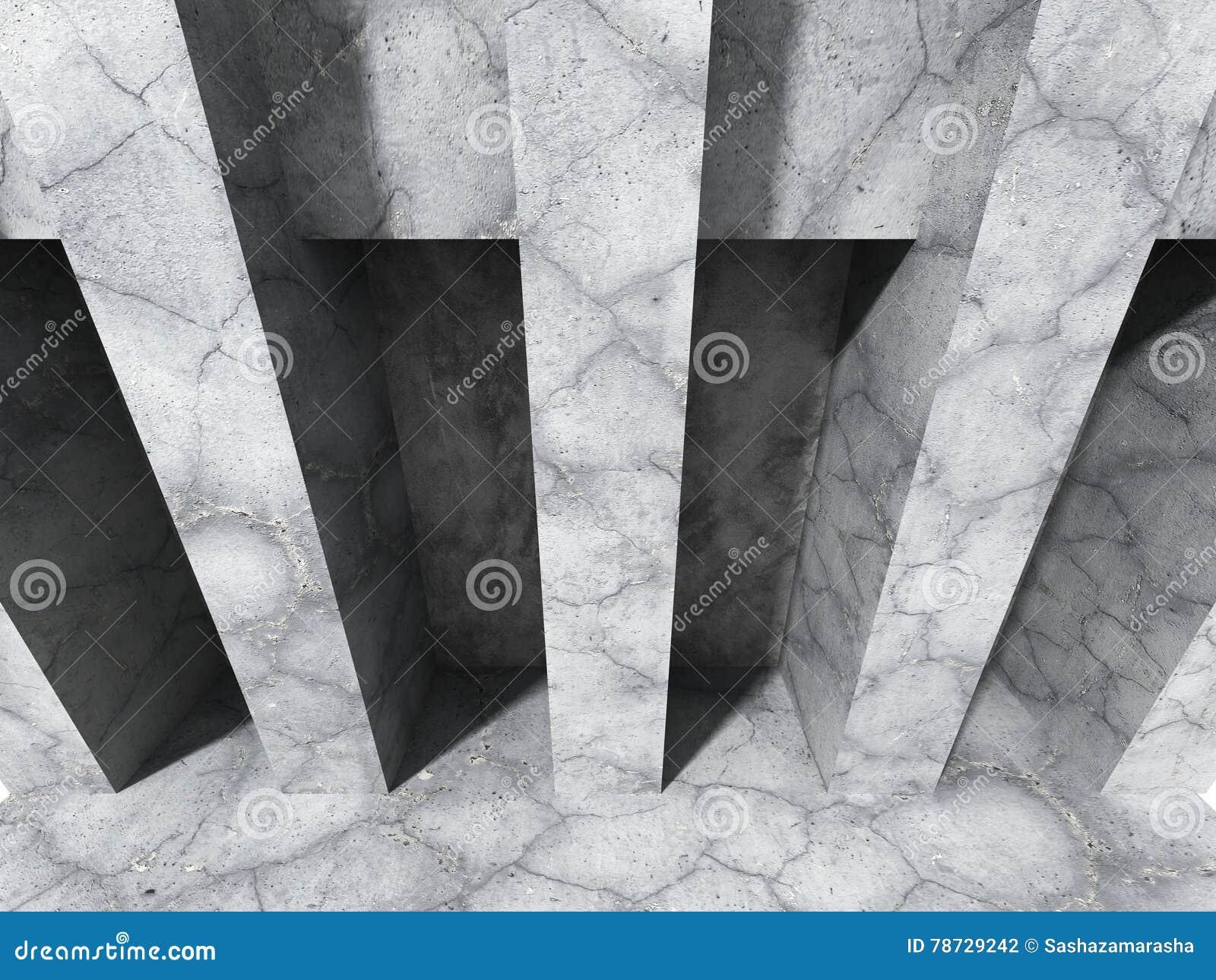 Abstrakt konkret arkitektur Stads- vägg under solljus
