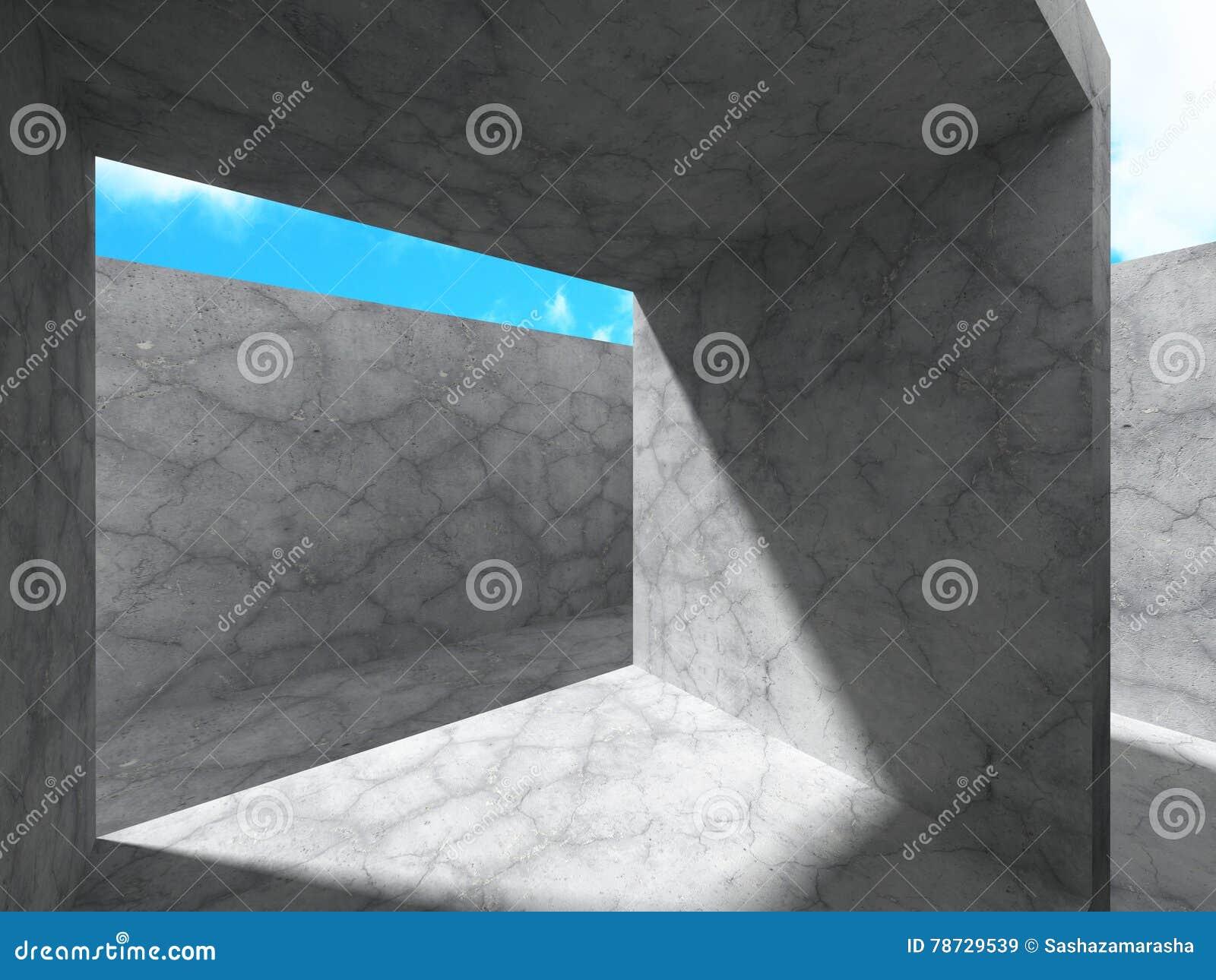 Abstrakt konkret arkitekturkonstruktionsbakgrund
