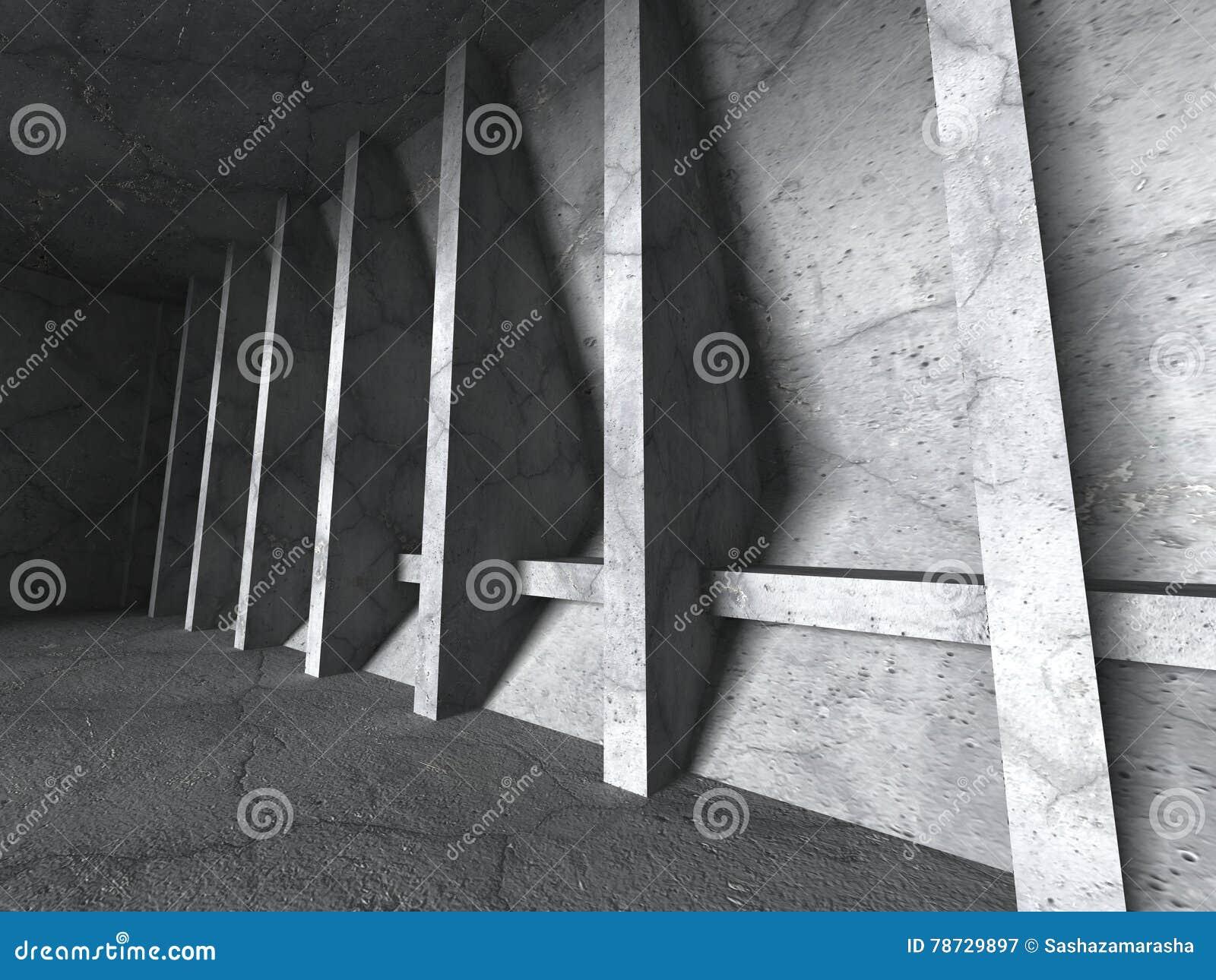 Abstrakt konkret konstruktion Tom stads- ruminre