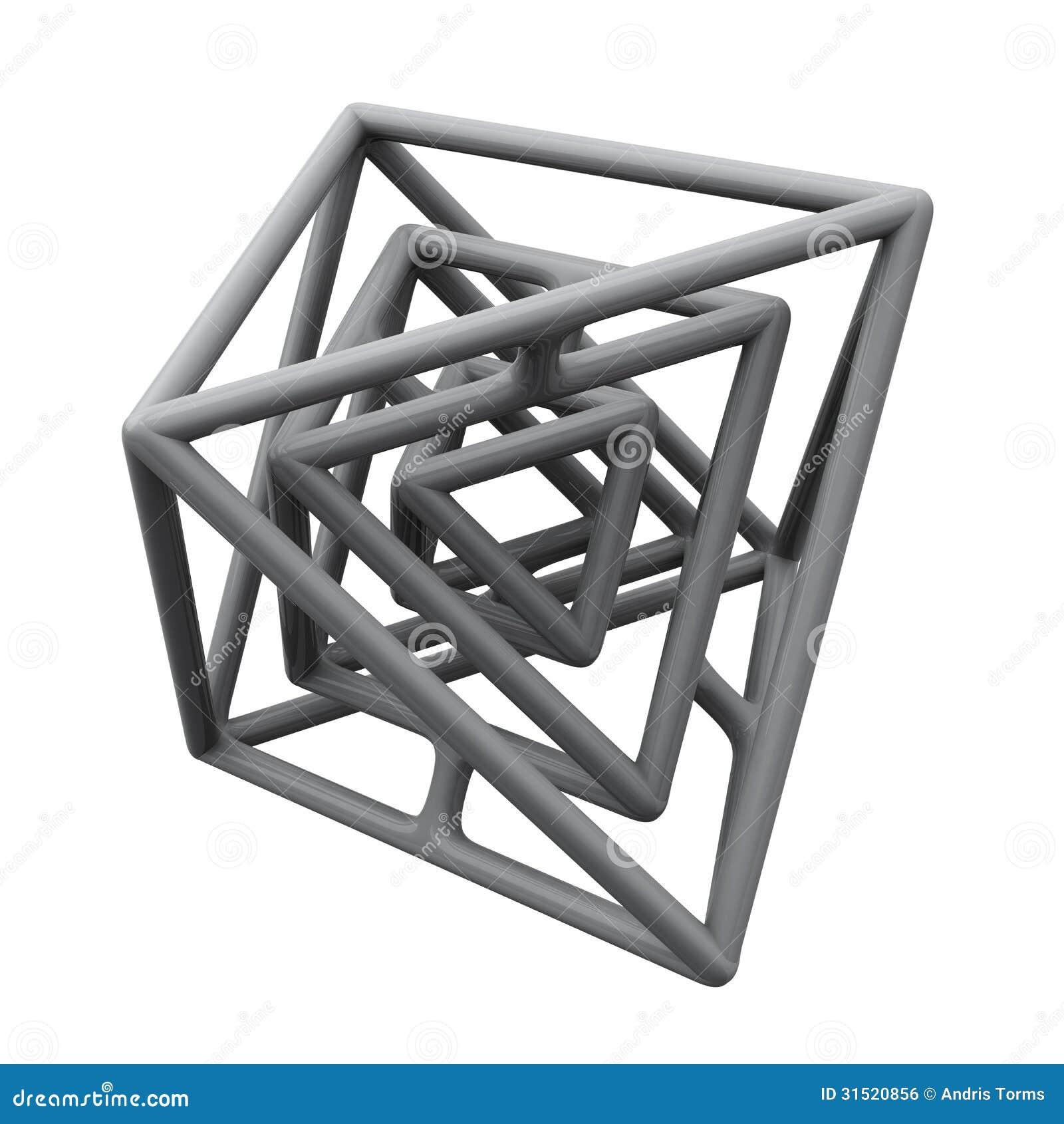 Abstrakt konstruktion 3d