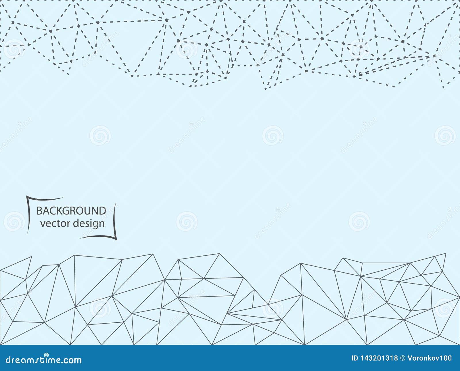 Abstrakt kropkowana linia i wielobok na lekkim tle, również zwrócić corel ilustracji wektora