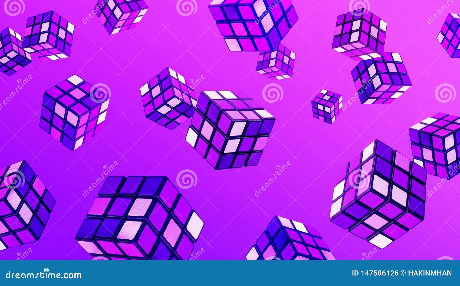 Abstrakt kubkonst i lutningfärg Begrepp för fantasikreativitetbakgrunder