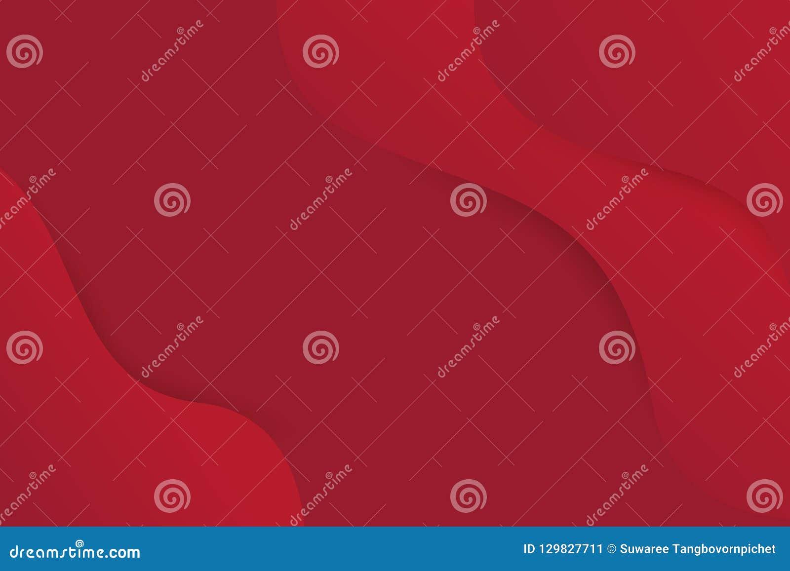 Abstrakt kurva för röd färg för modell för grafisk design