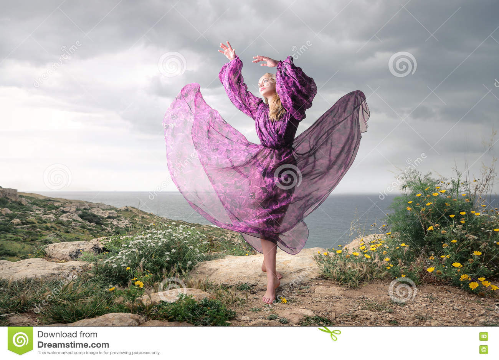 Abstrakt kvinna för dansillustrationinc