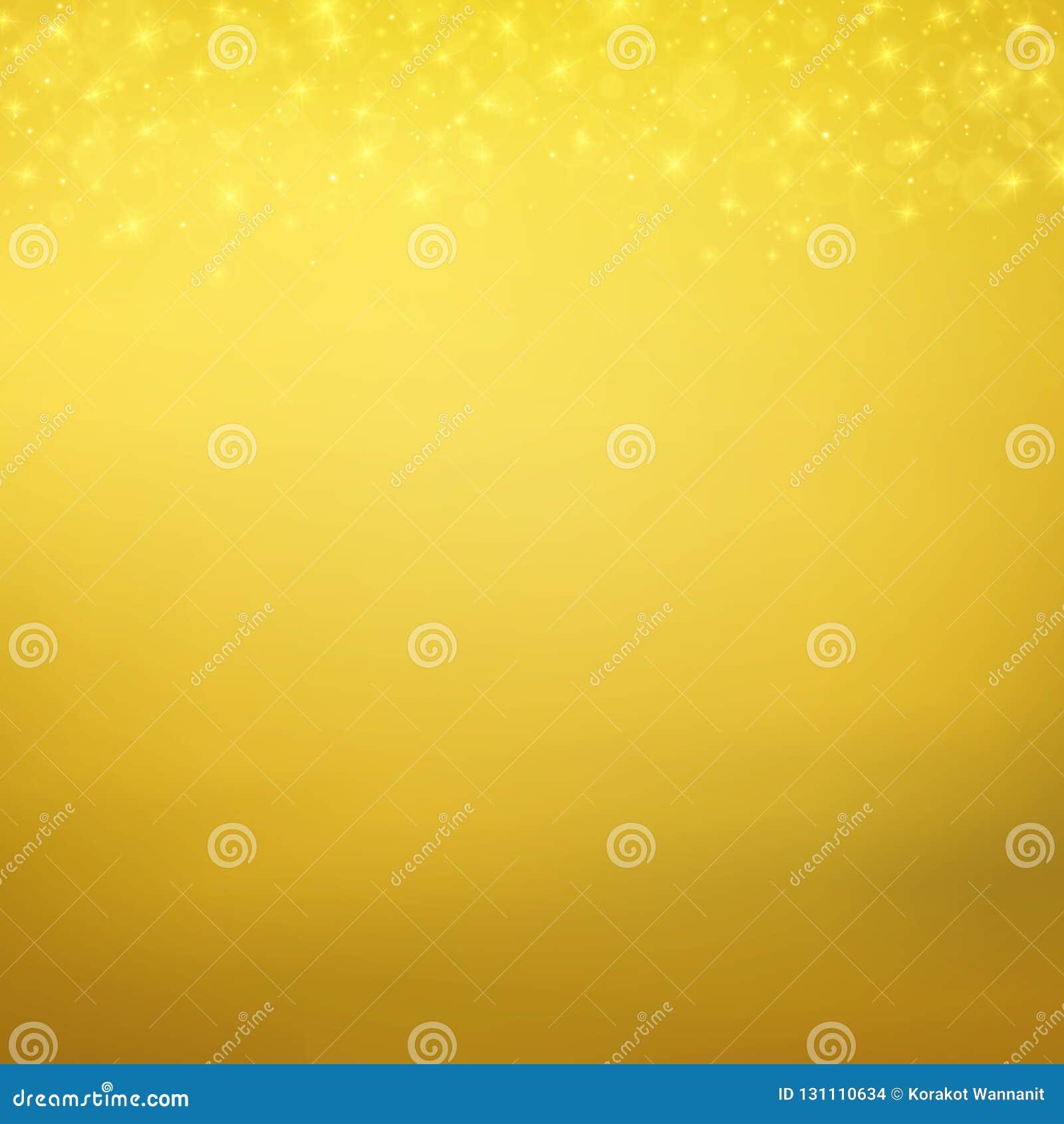 Abstrakt lekki złocisty cząsteczki złoto połyskuje tło
