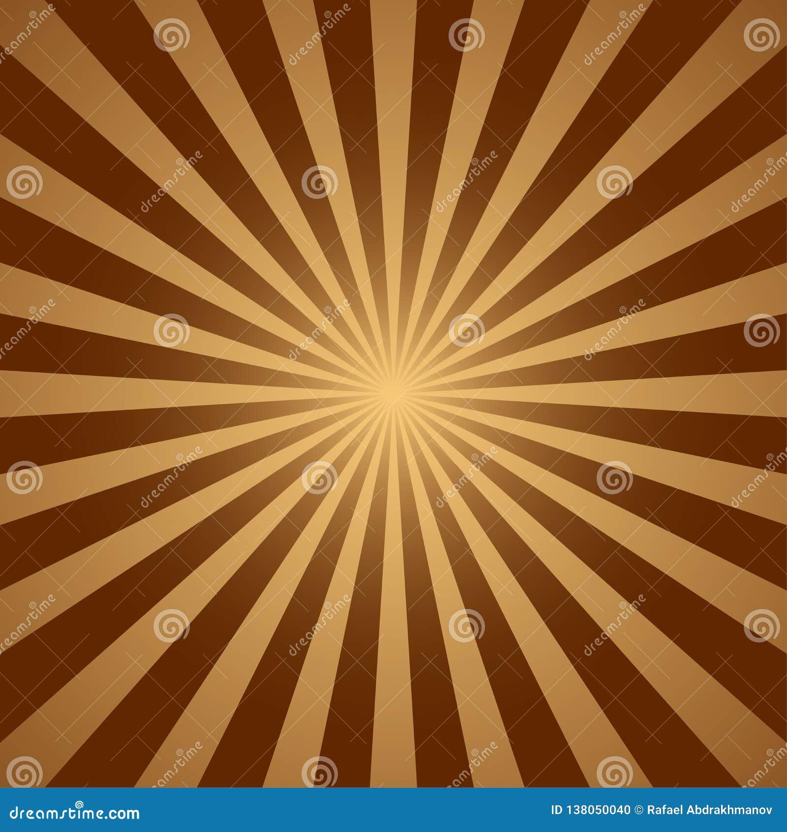 Abstrakt ljus - den gula solen rays bakgrund för illustrationsköld för 10 eps vektor