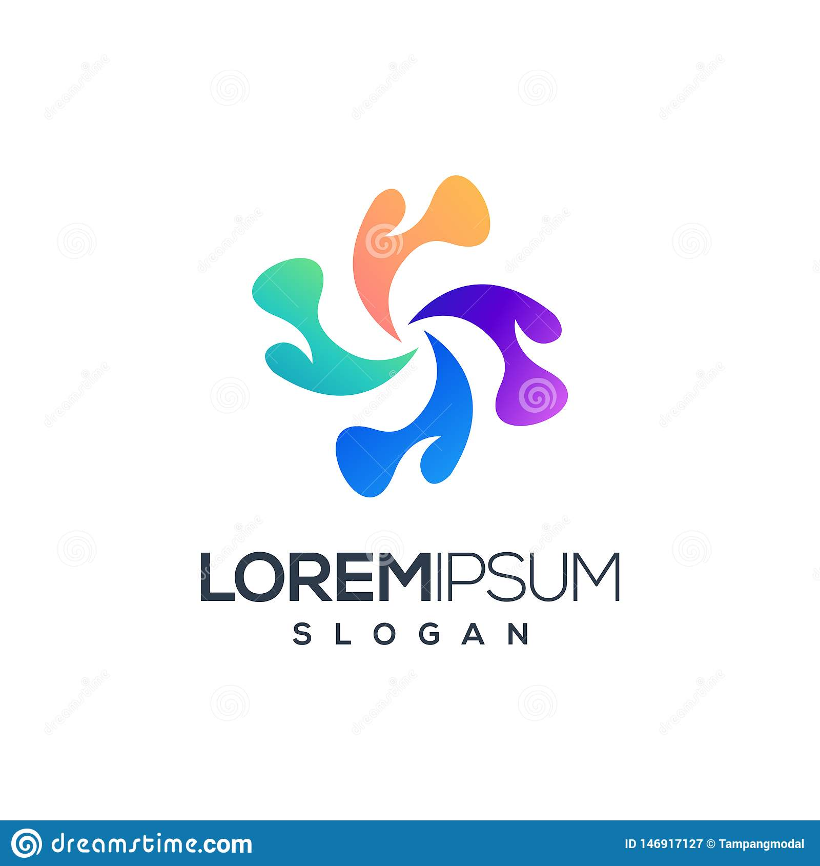 Abstrakt logodesign, vektorillustration