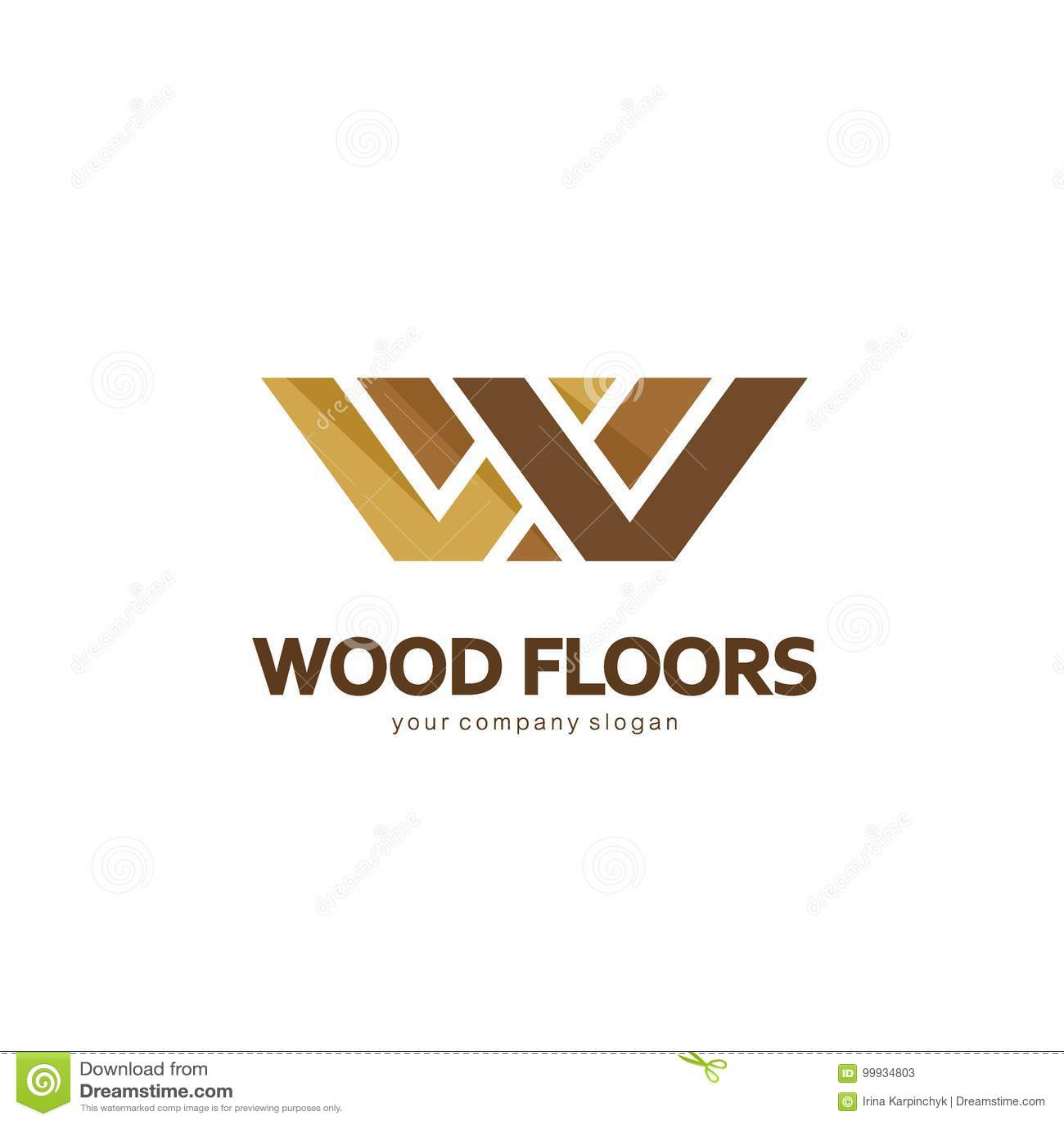 Abstrakt logomall för vektor Logodesign för parketten, laminat, durk, tegelplattor floors trä