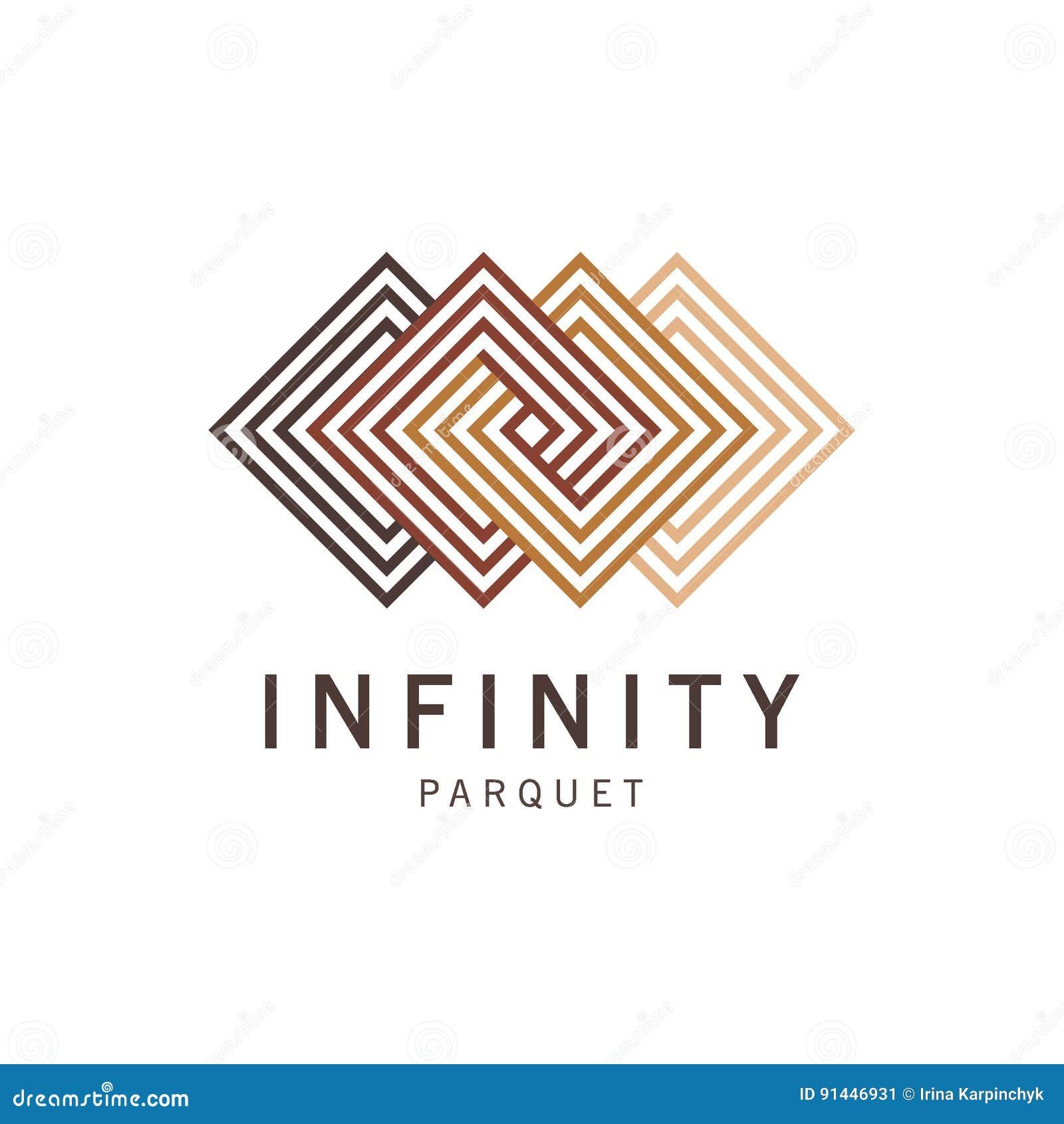 Abstrakt logomall för vektor Logoparkett, laminat, durk, tegelplattor