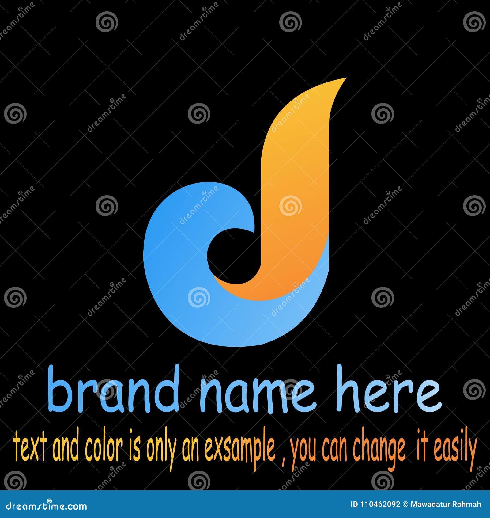 Abstrakt logovektor för bokstav b