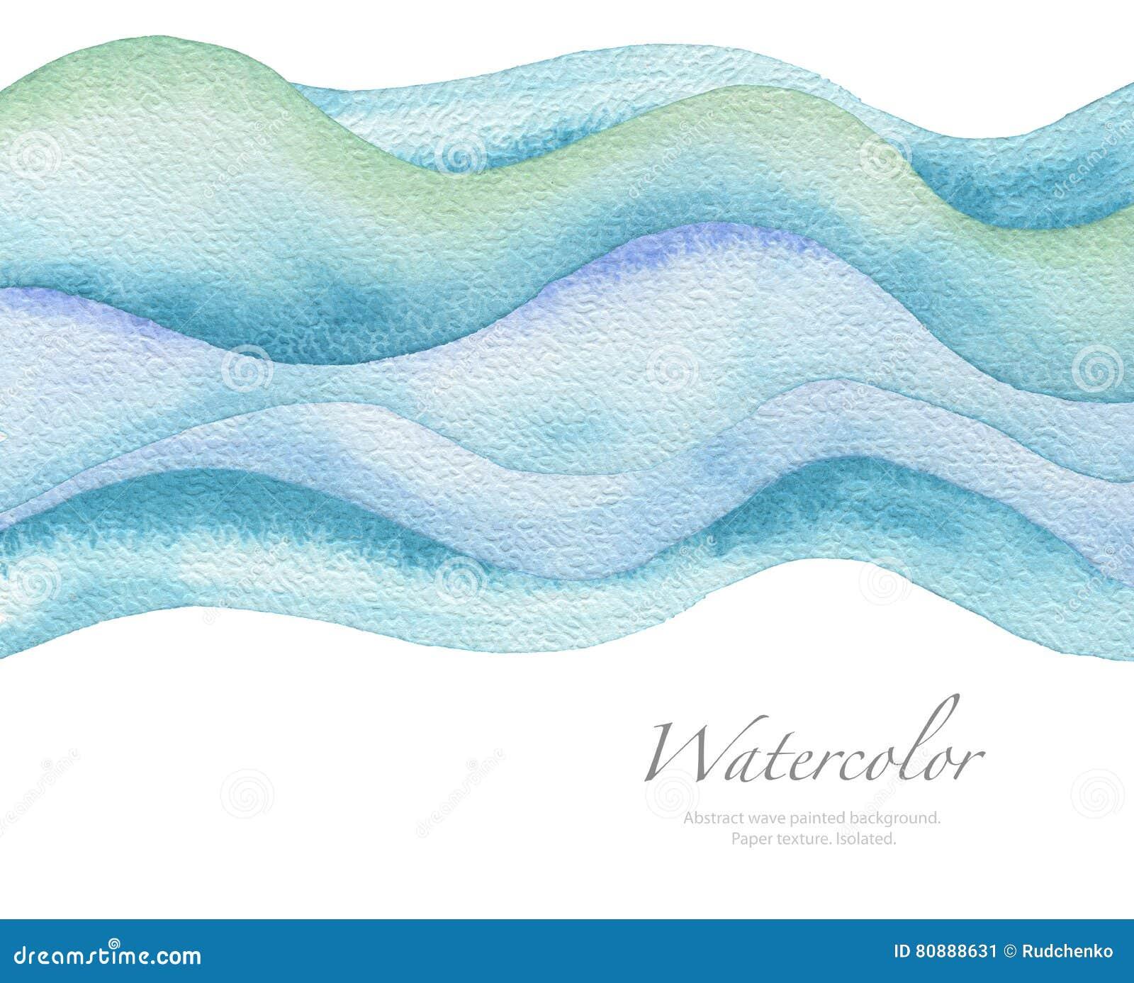 Abstrakt målad bakgrund för våg vattenfärg paper textur