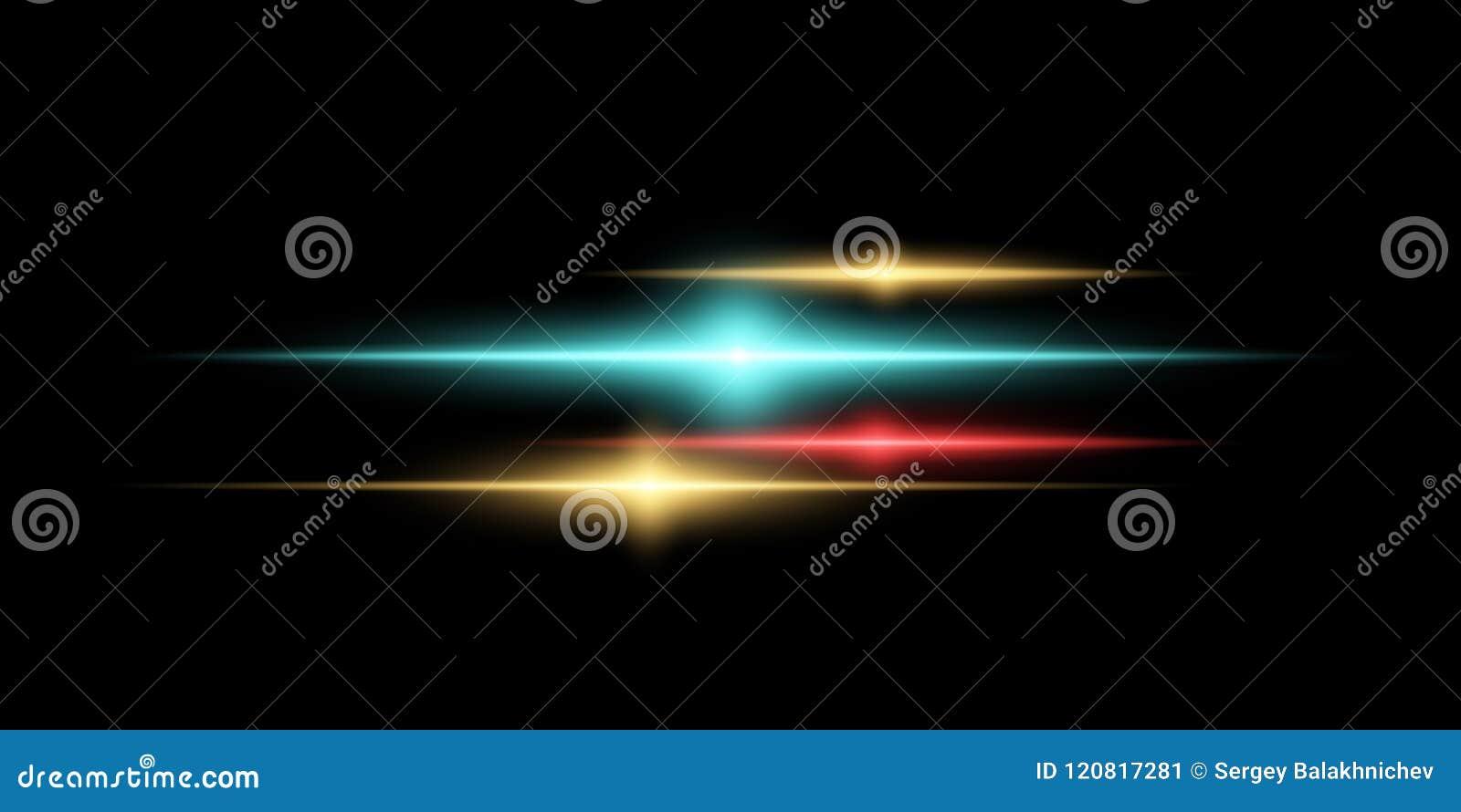 Abstrakt magisk stilfull ljus effekt på en genomskinlig bakgrund Mångfärgade signalljus också vektor för coreldrawillustration