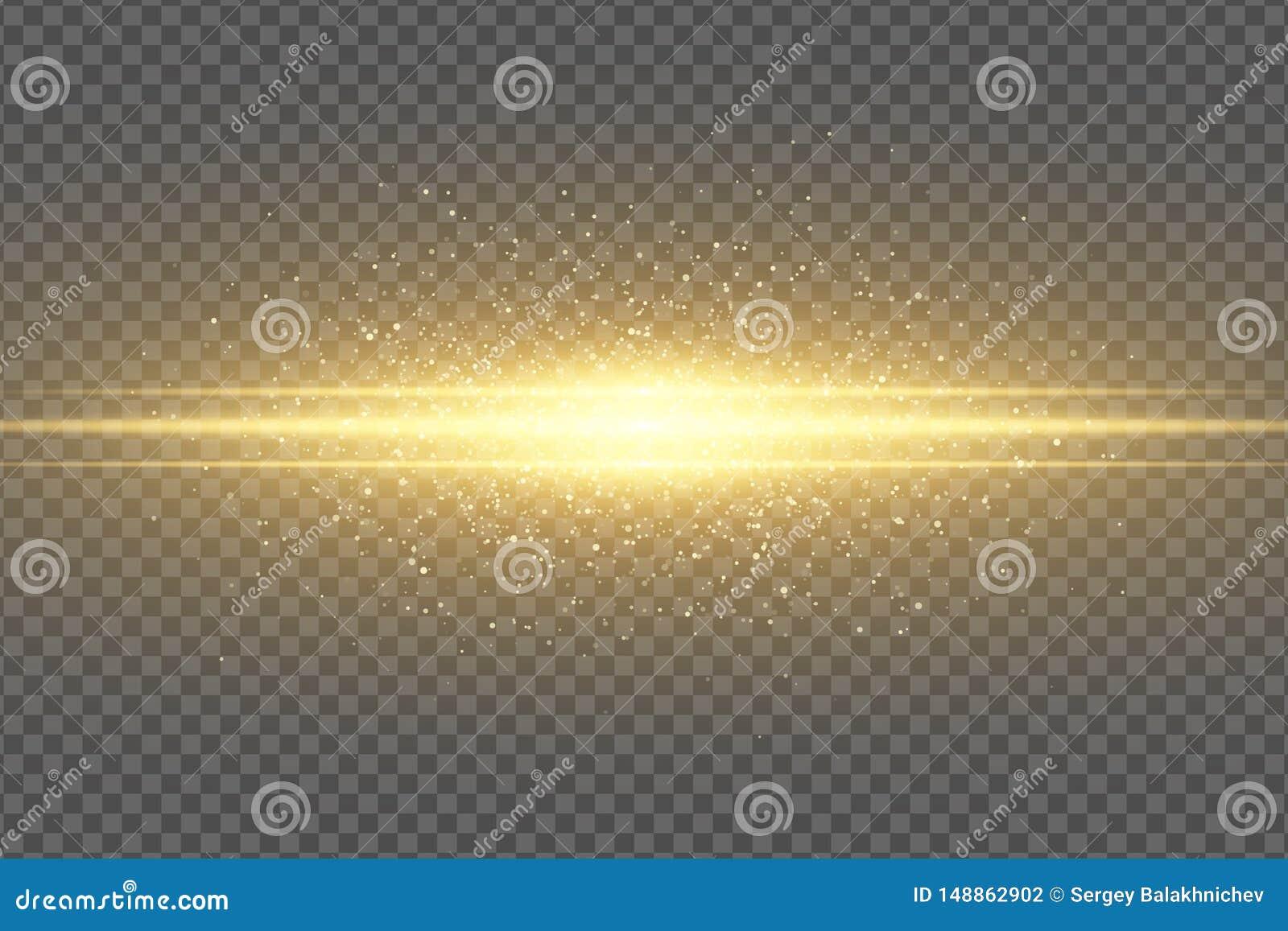 Abstrakt magisk stilfull ljus effekt p? en genomskinlig bakgrund guld- exponering Lysande flygadamm som skimrar partikelflyg