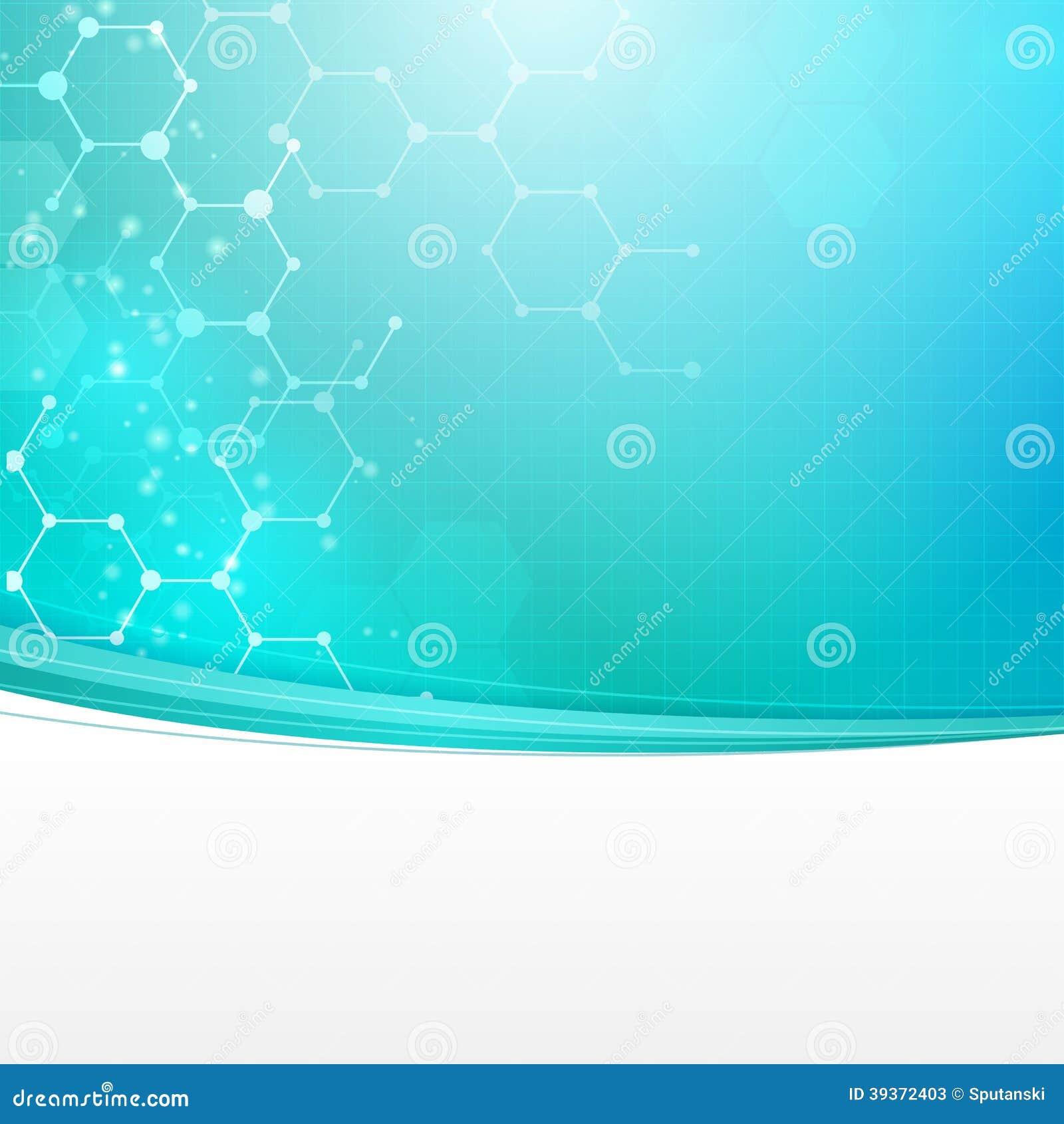 Abstrakt medicinsk teknologibakgrund