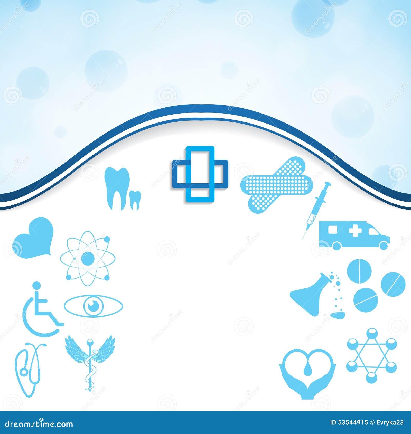 Abstrakt medicinsk uppsättning för rengöringsduksilversymboler