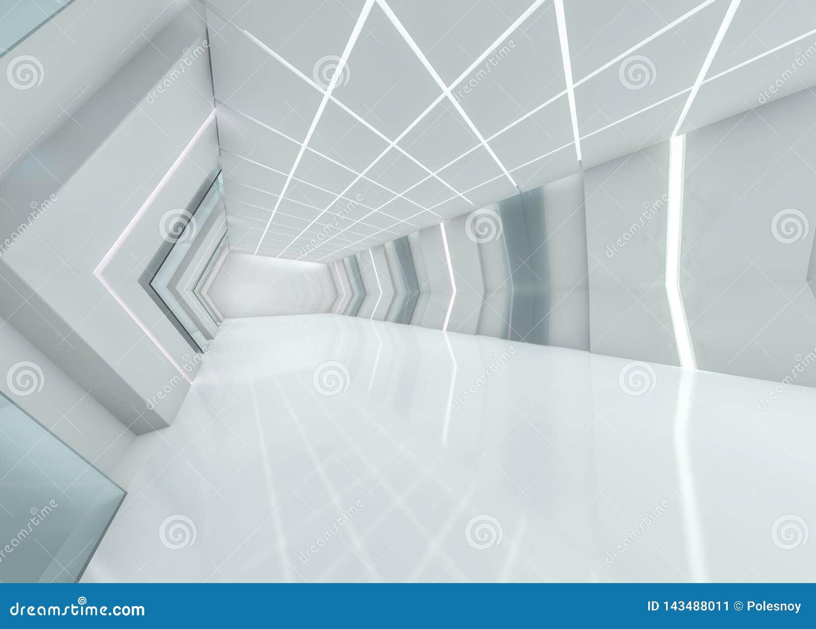 Abstrakt modern arkitekturbakgrund framförande 3d