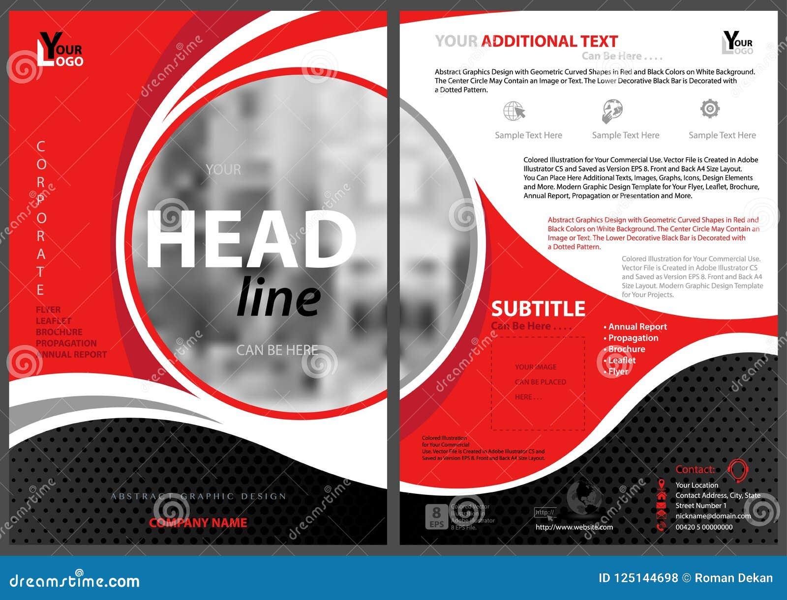 Abstrakt modern reklambladmall med cirkelramen