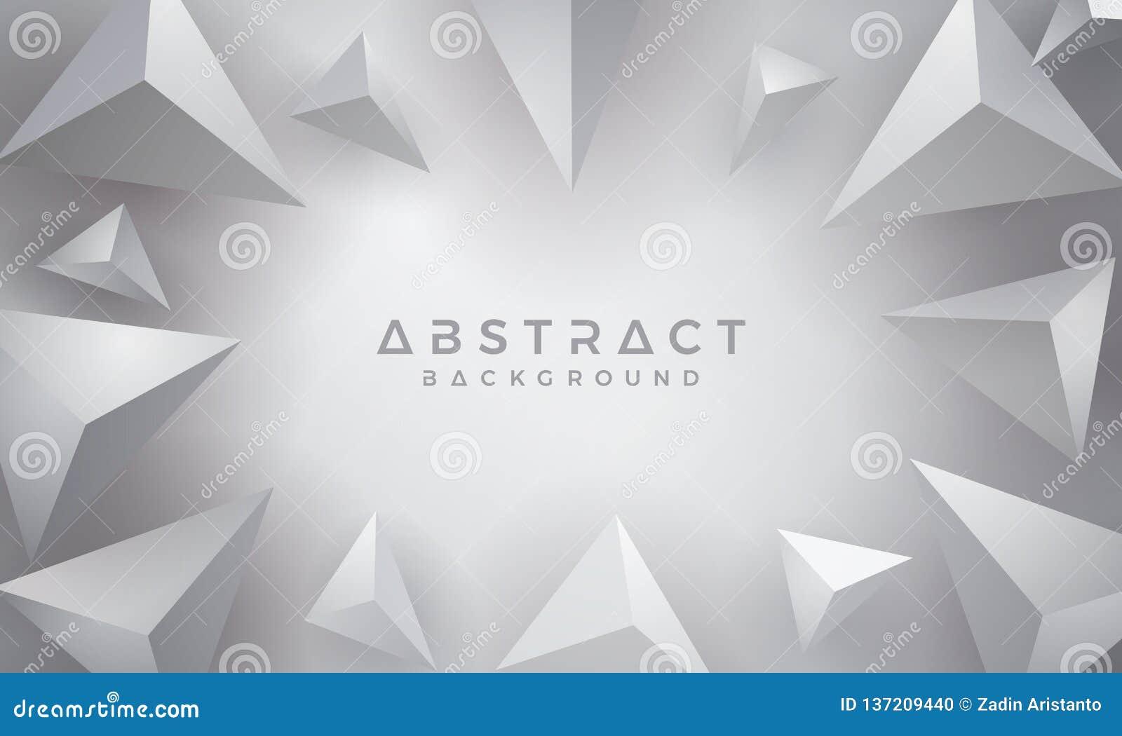 Abstrakt modernt, 3D triangel Gray Background vektor för bakgrund eps10