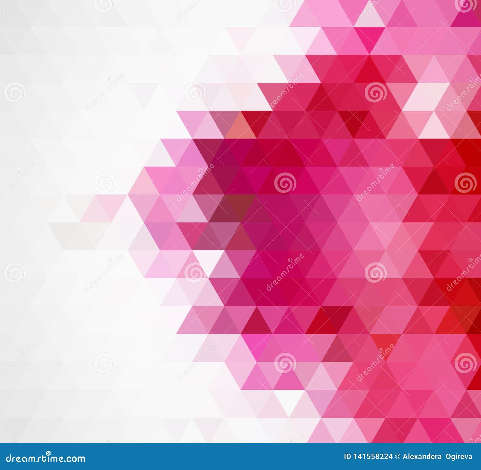 Abstrakt mozaiki różowy poligonalny tło również zwrócić corel ilustracji wektora Multicolor niski poli- gradientowy tło