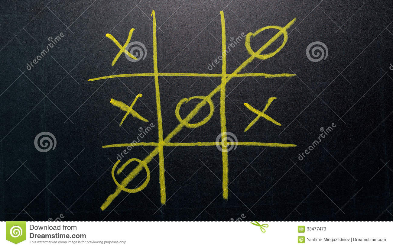 Abstrakt muskelryckning Tac Toe Game Competition