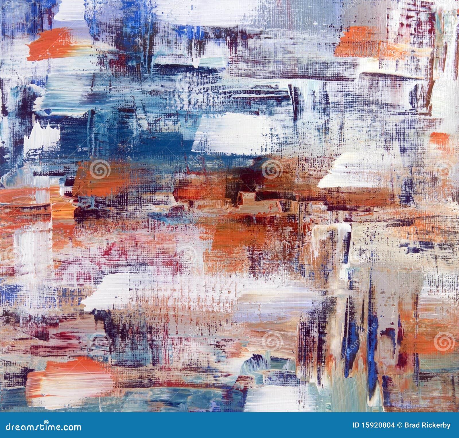 Abstrakt oljemålning