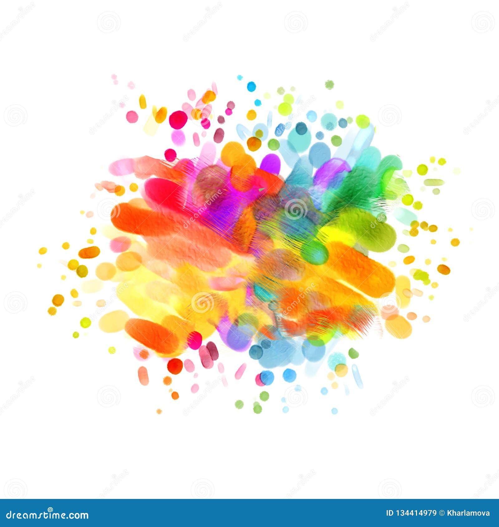 Abstrakt oljemålning Tom färgrik fläck