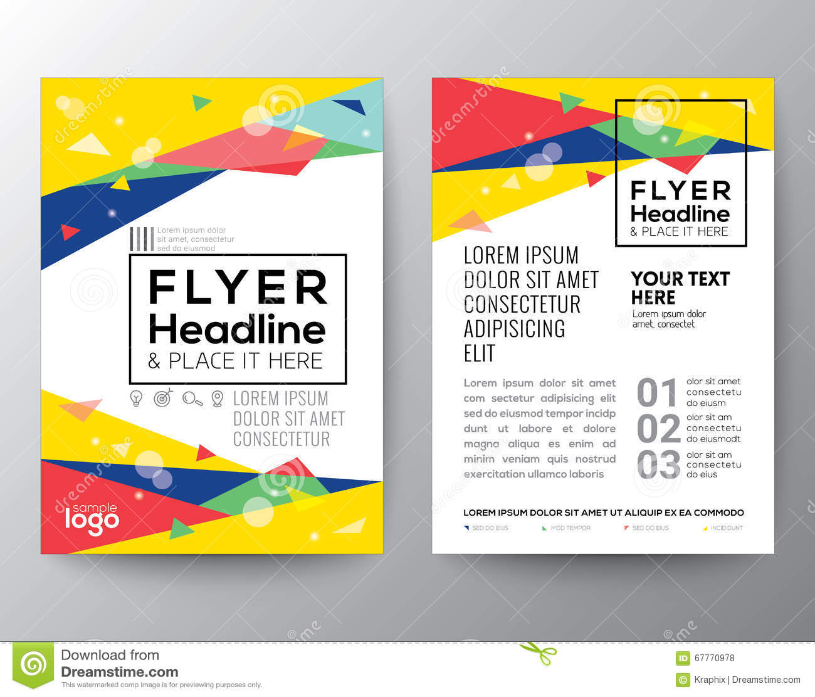 Abstrakt orientering för design för reklamblad för broschyr för affisch för form för 80-talstiltriangel