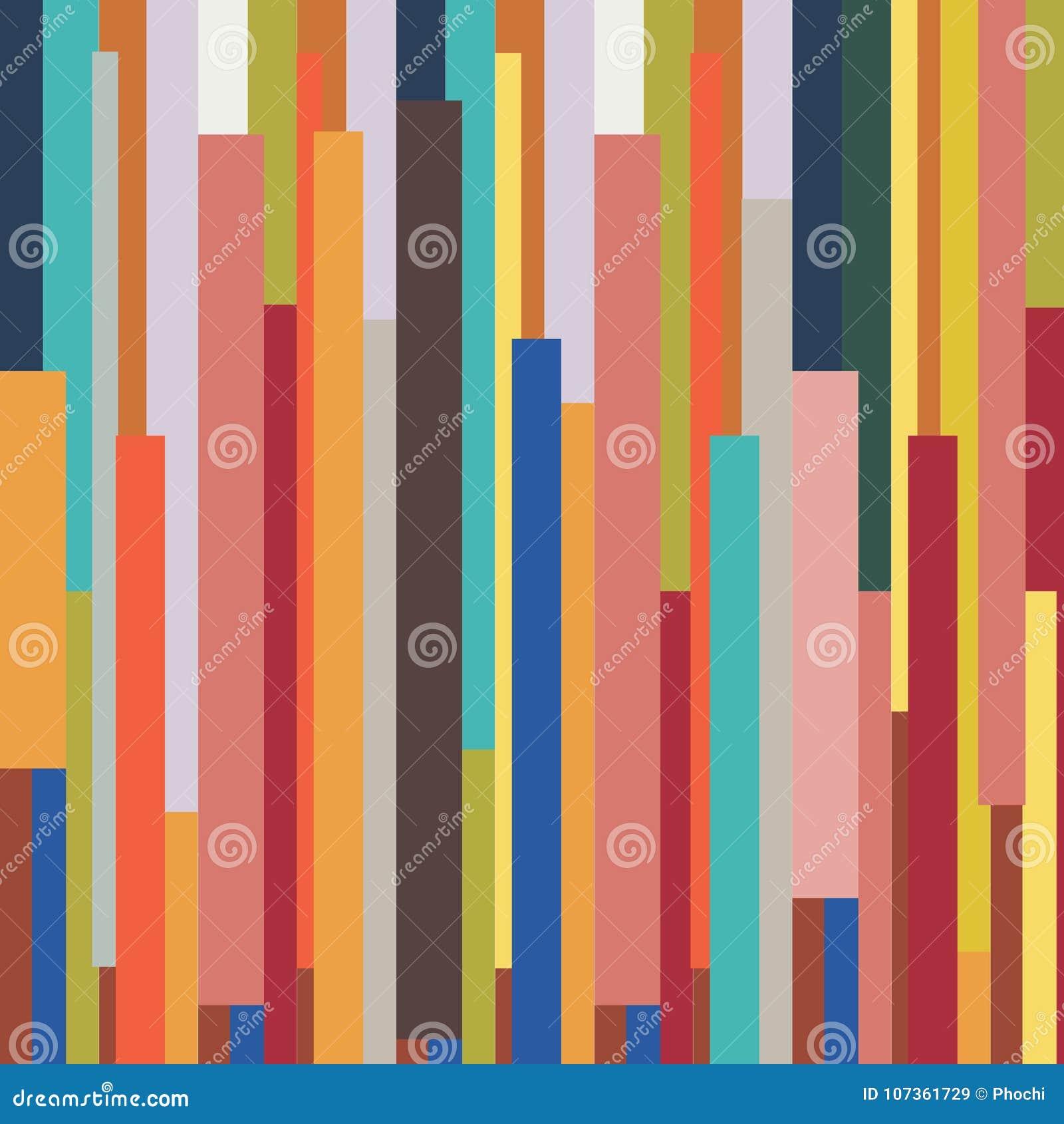 Abstrakt paskował geometrycznego kolorowego rocznika retro deseniowego backgr