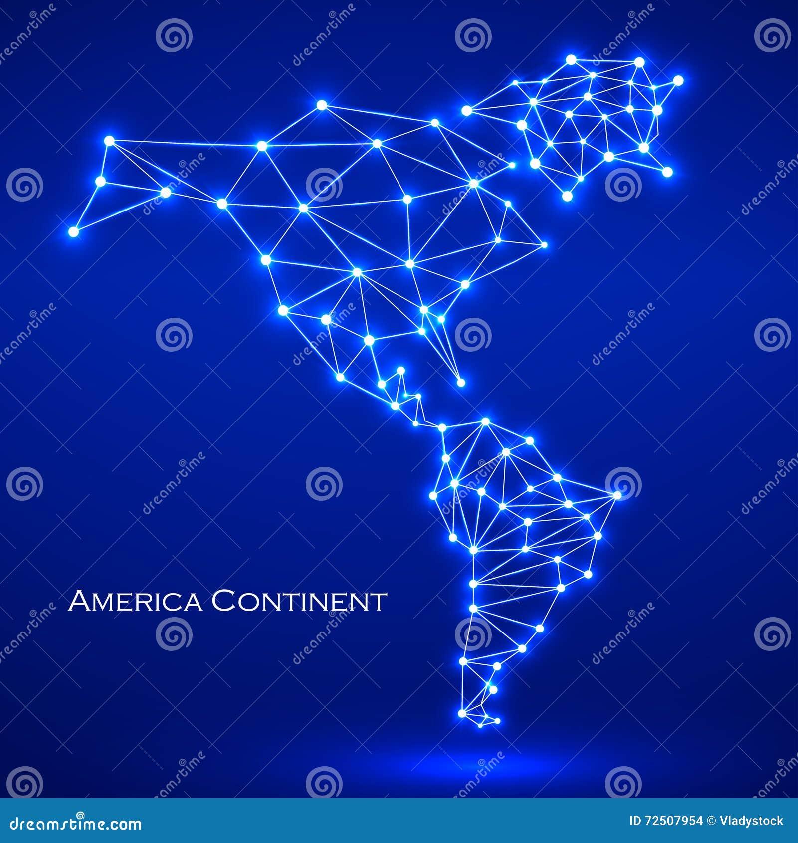 Abstrakt polygonal översiktsAmerika kontinent