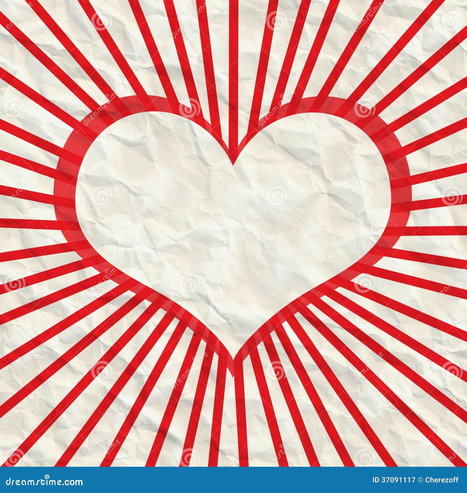 Download Abstrakt rama serce ilustracji. Ilustracja złożonej z jaskrawy - 37091117