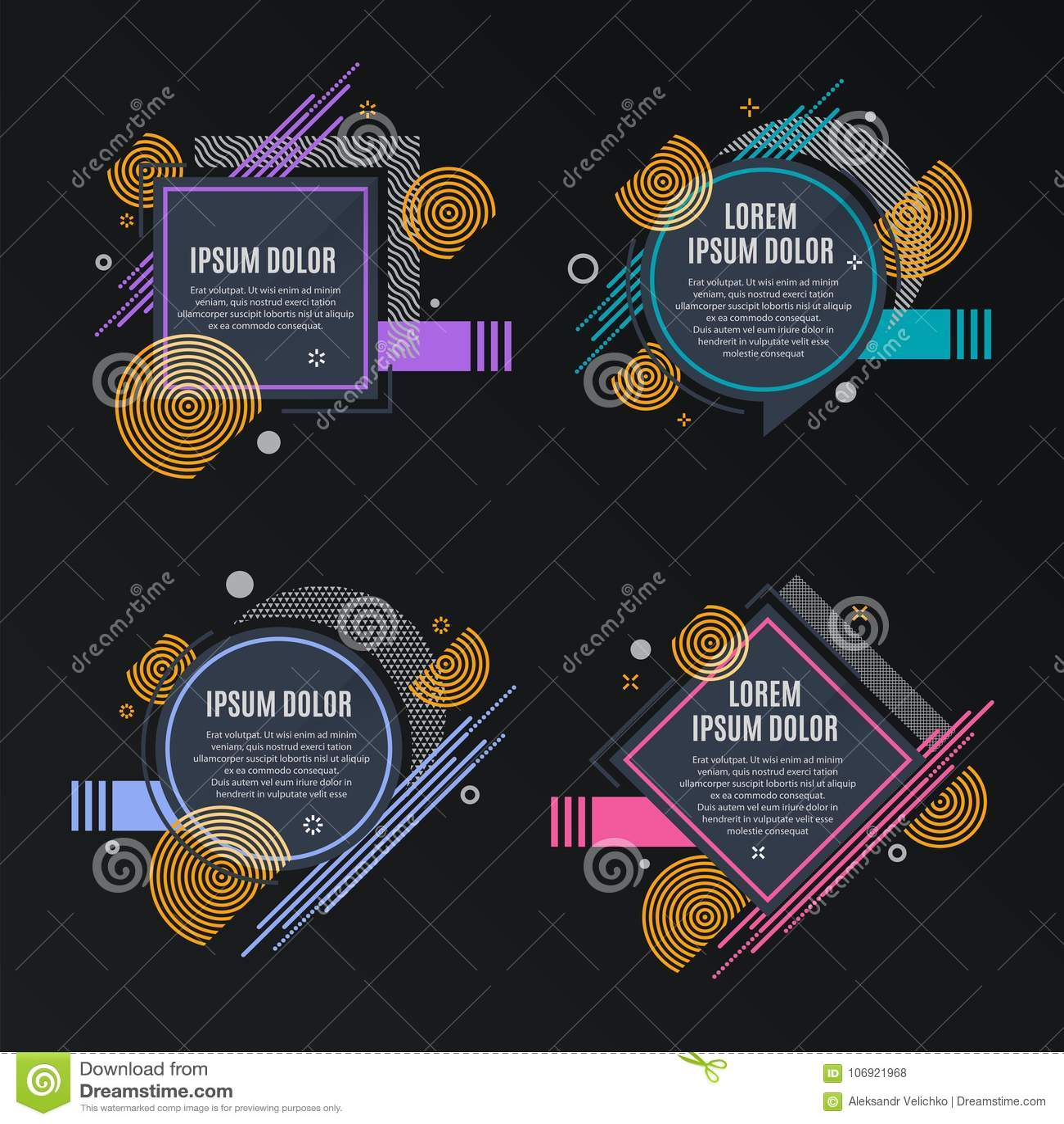 Abstrakt ramy dla sprzedaż projektujących sztandarów, etykietki, etykietki