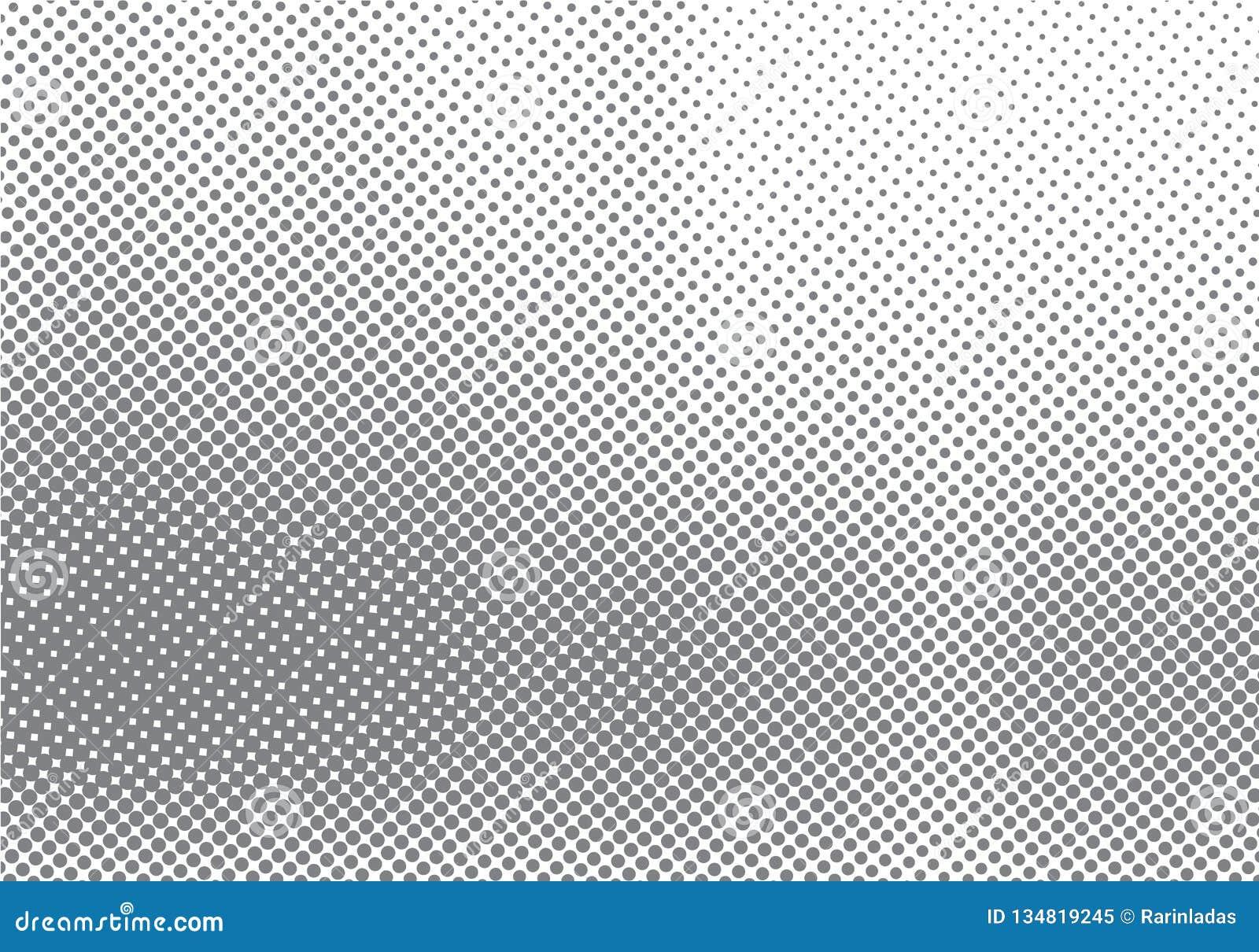 Abstrakt rastrerad rörelseeffekt med att blekna bakgrund och textur för prickgradering svartvit