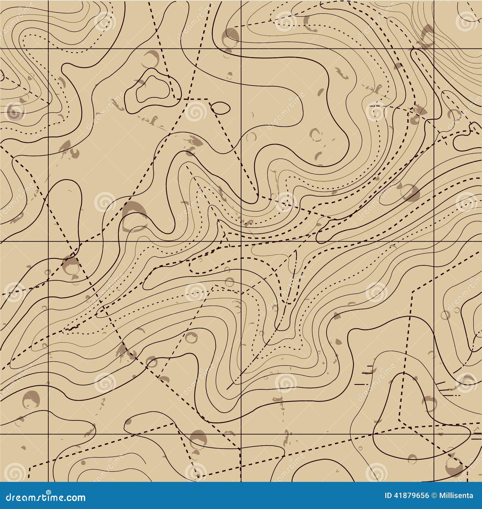 Abstrakt Retro topografiöversiktsbakgrund