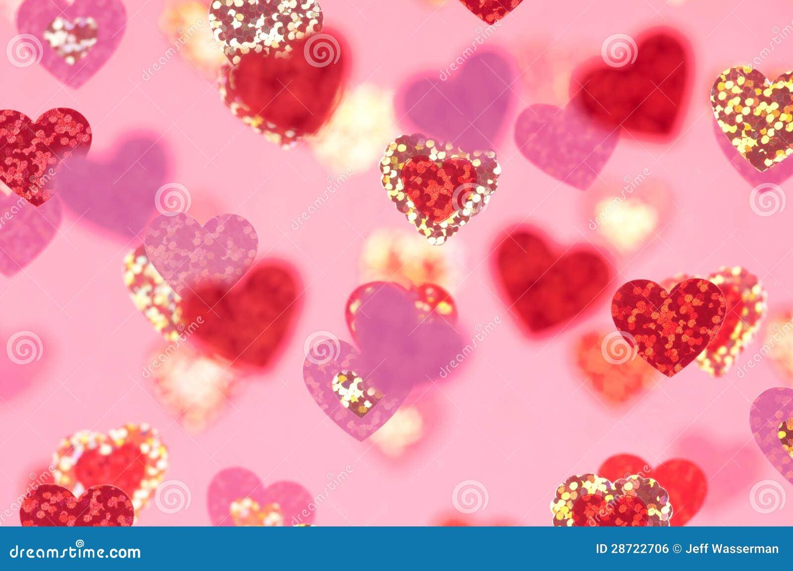 Abstrakt rosa hjärtor för valentin dag
