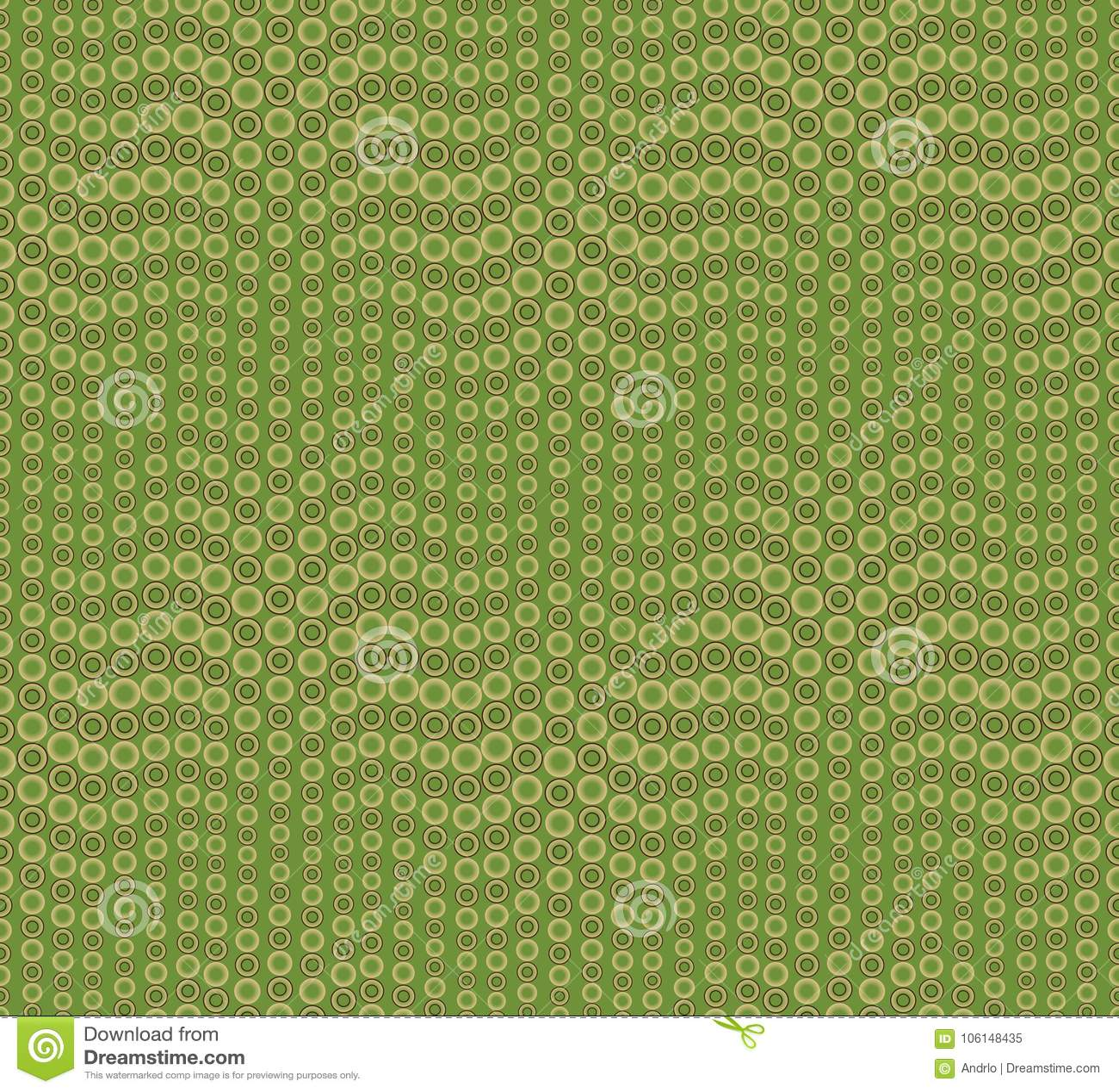 Abstrakt sömlös modell på en grön bakgrund Har formen av en våg Består av runda geometriska former