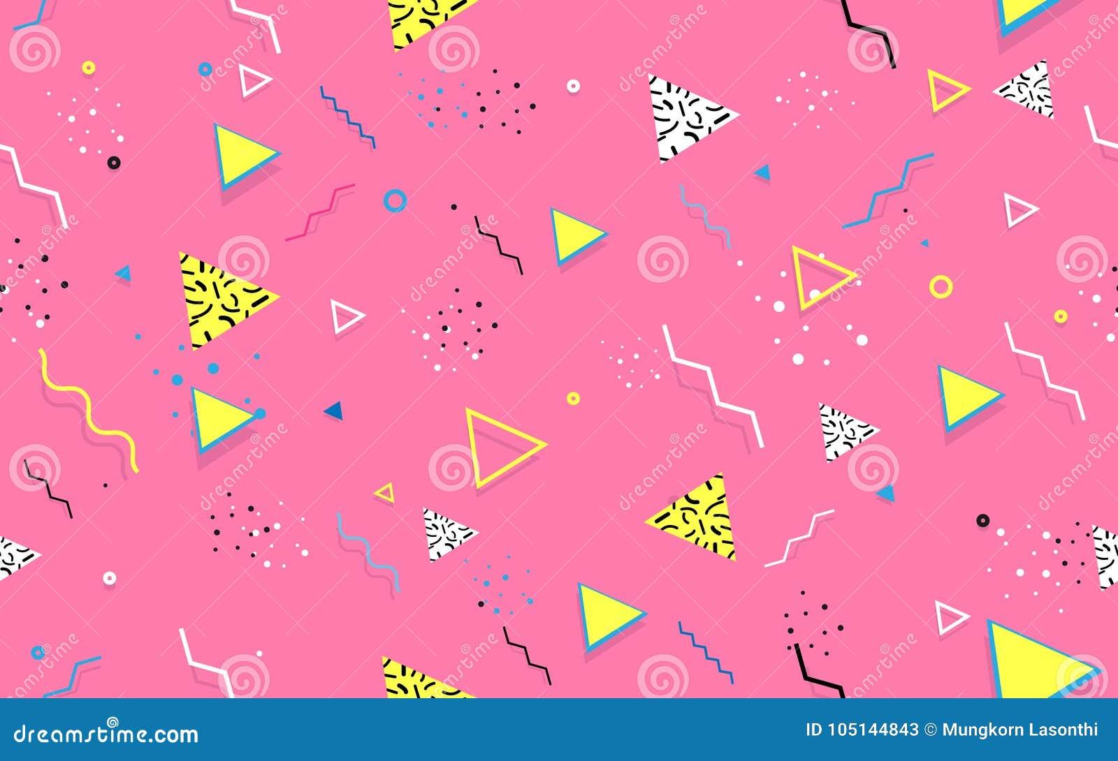Abstrakt sömlös moderiktig geometrisk linje former Retro textur för stil 80s-90s