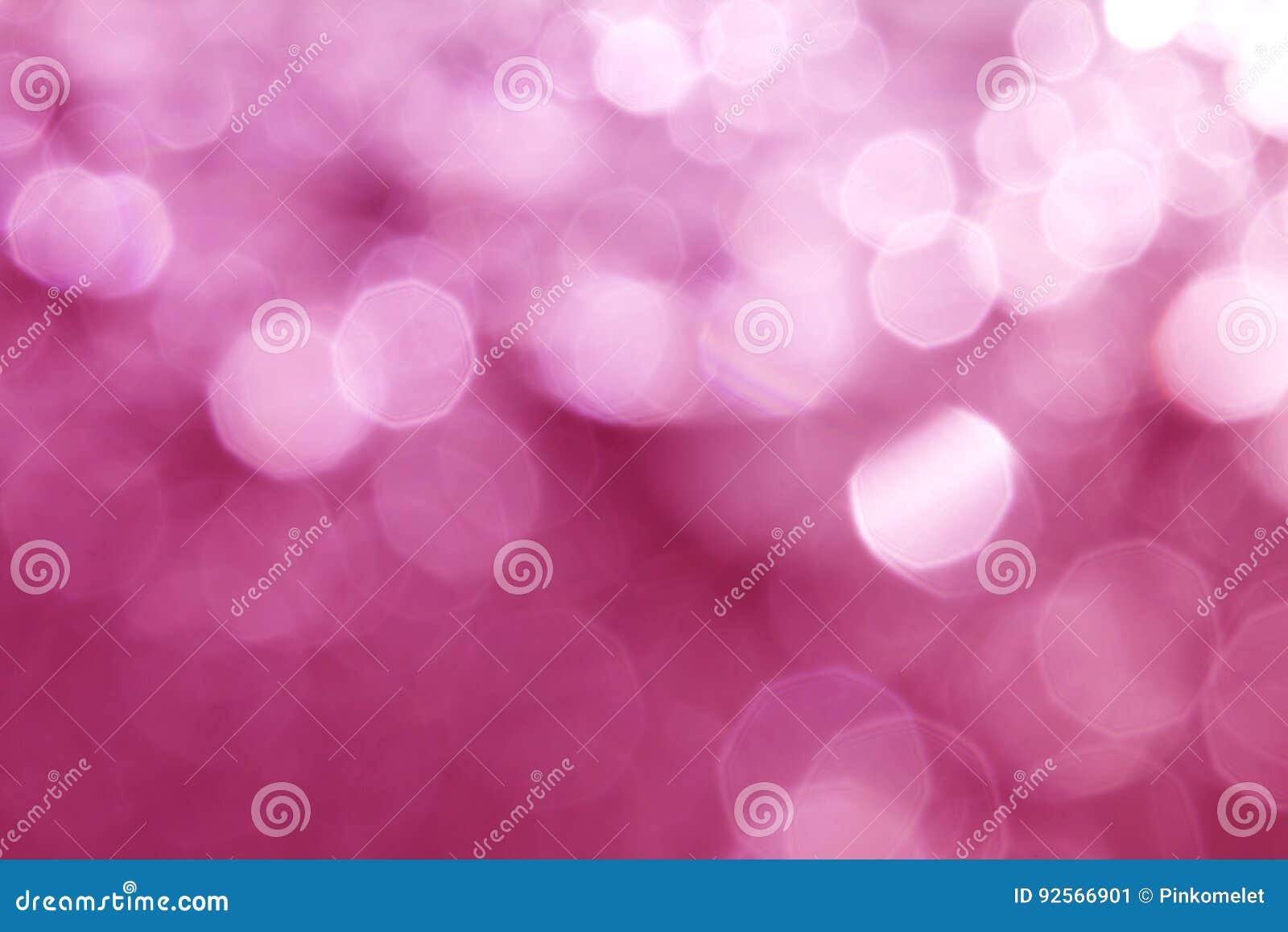 Abstrakt söt rosa elegant bokehbelysning för jul eller hol