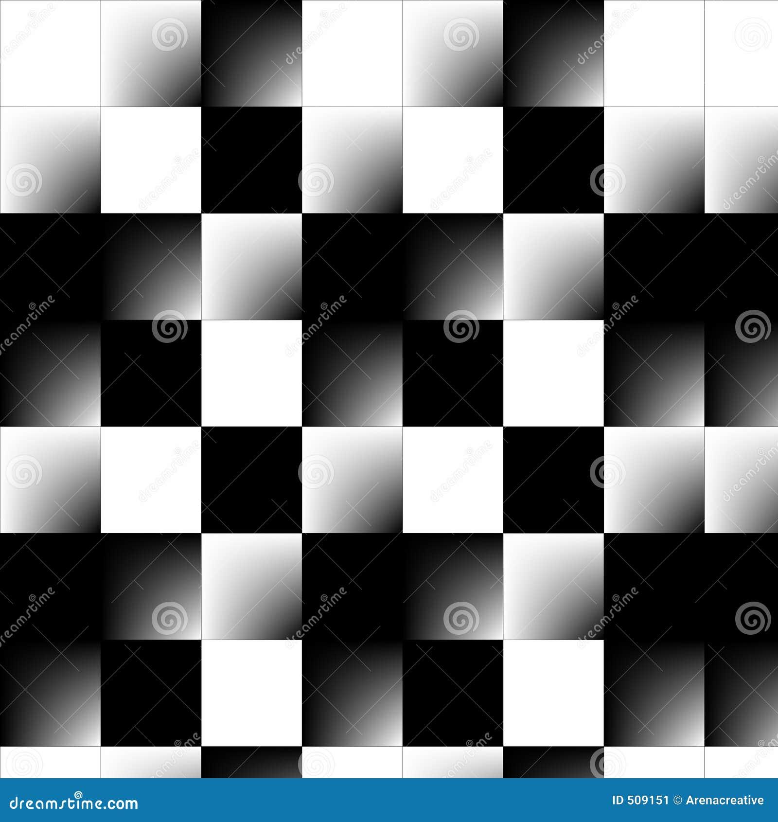 Abstrakt schackbräde 3d