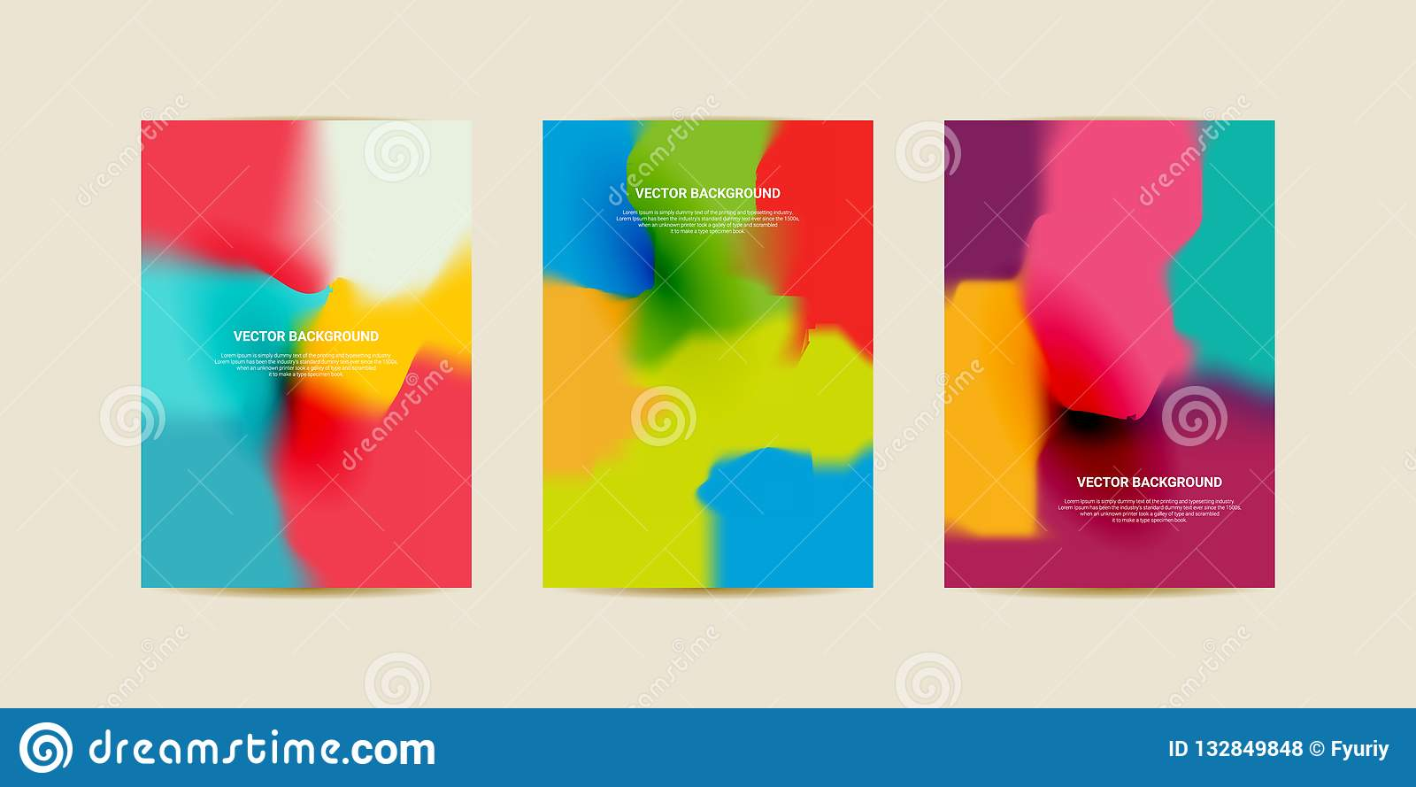 Abstrakt siatki zamazani gradientowi tła Kolorowy gładki sztandaru szablon