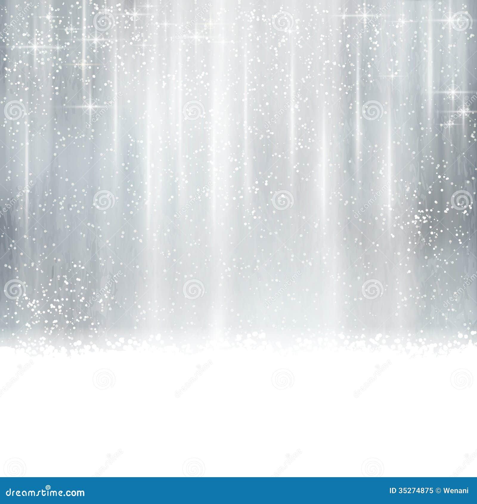 Abstrakt silverjul, vinterbakgrund