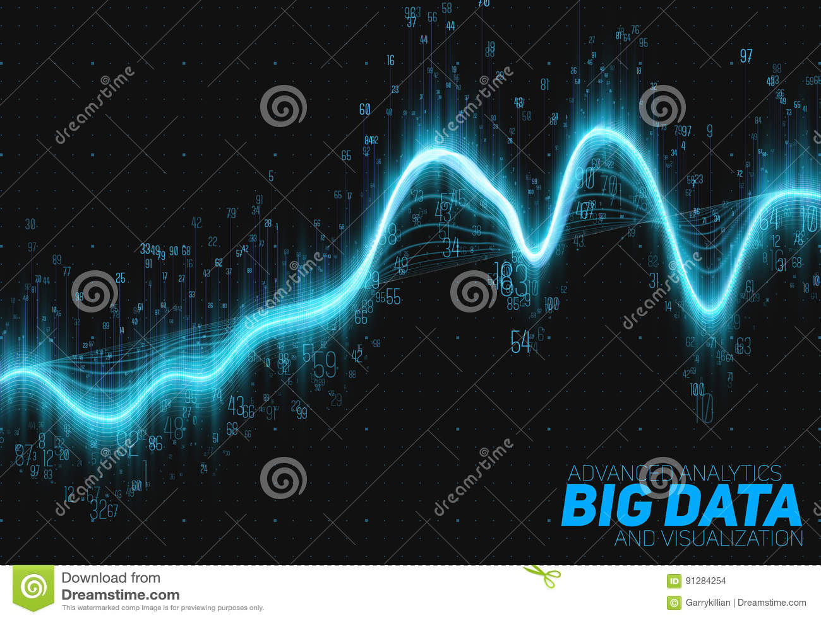Abstrakt stor datavisualization för vektor Estetisk design för futuristisk infographics Visuell informationskomplexitet