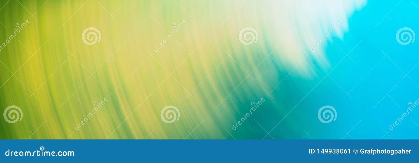 Abstrakt suddig ljus bakgrund, gula blåa runda linjer
